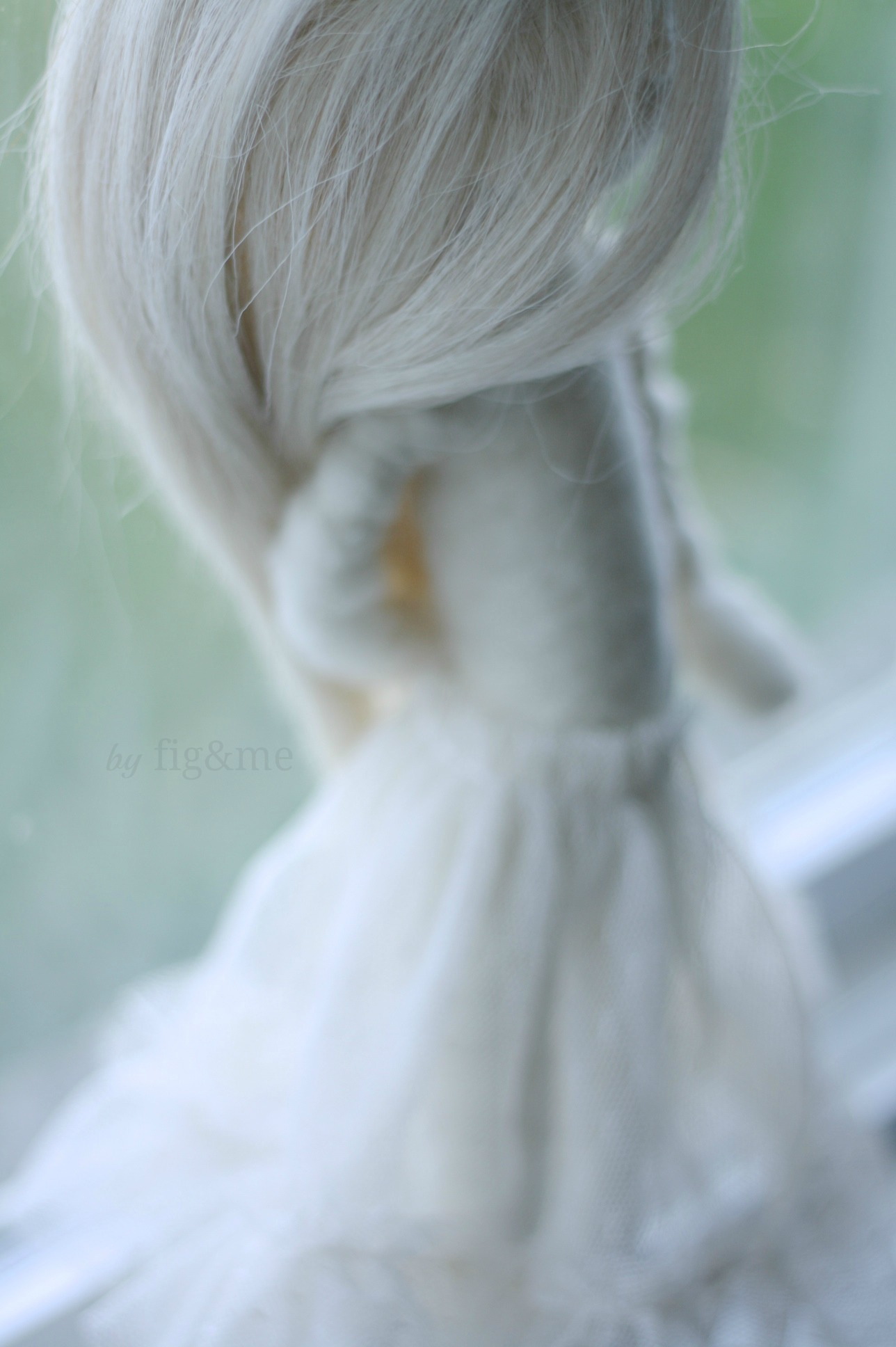 Wool sculpture art doll by Fig and me.