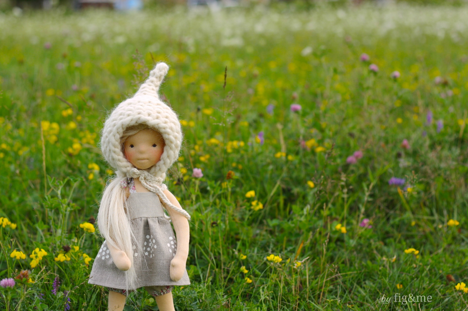 Cygnet, a natural art doll. By Fig and me.