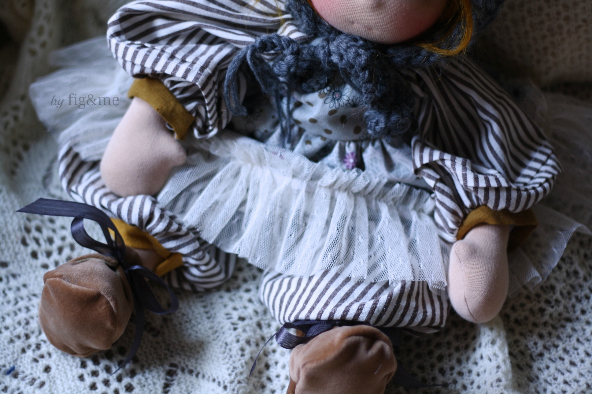 Tula, a handmade natural doll by Fig and me.