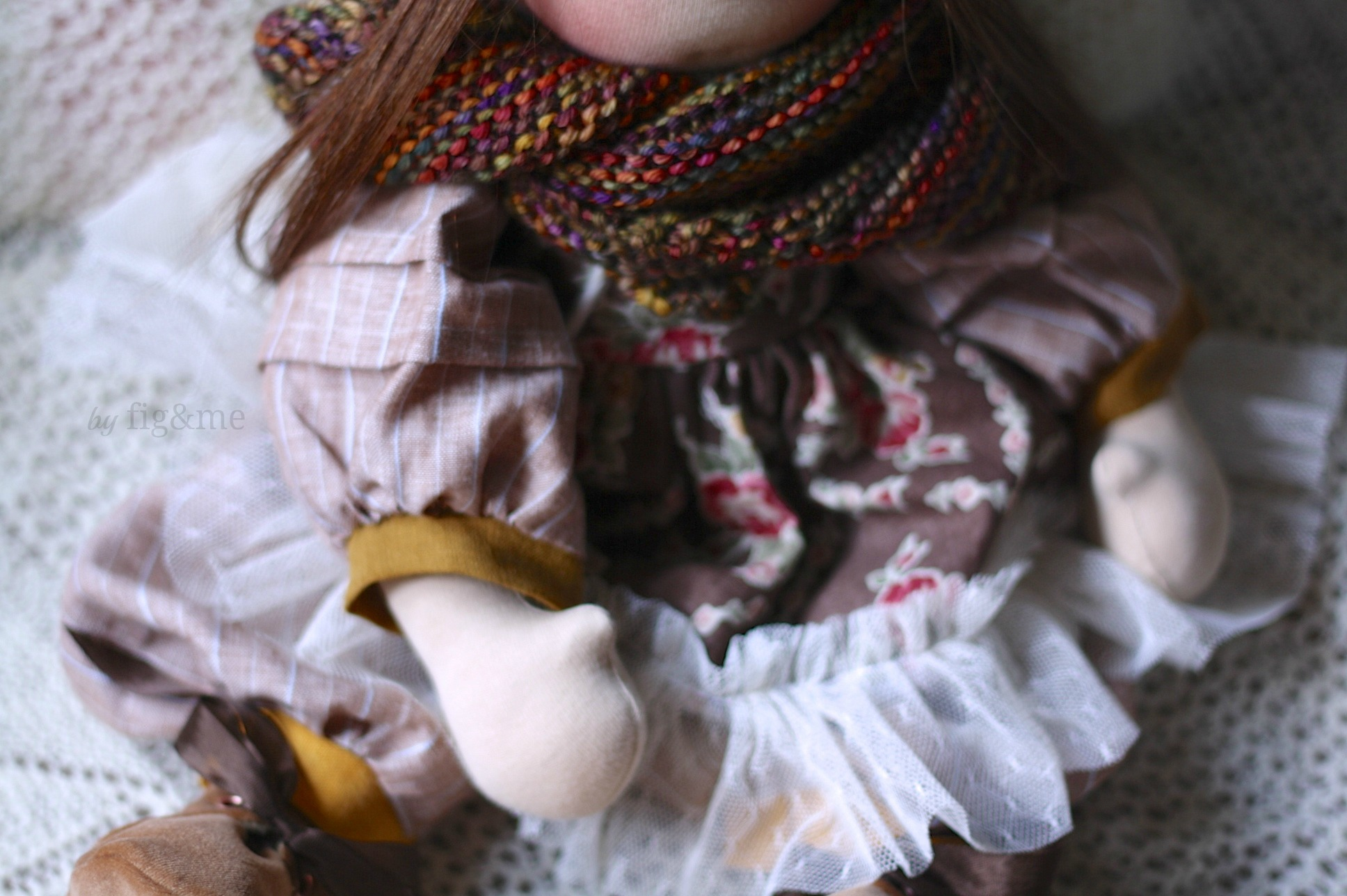 Tina, a handmade doll by Fig and me.