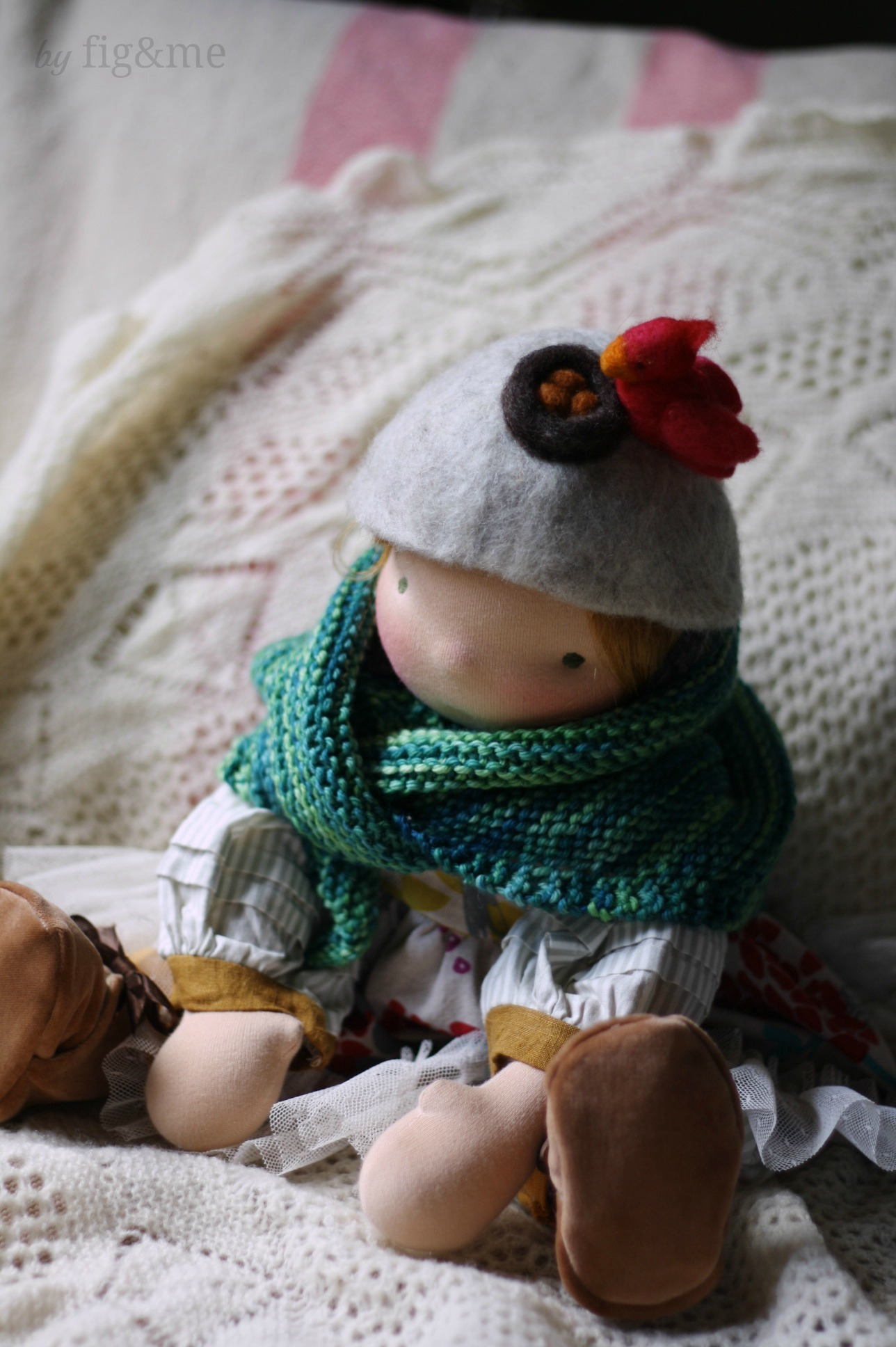 Tonne, a handmade natural doll by Fig and me.