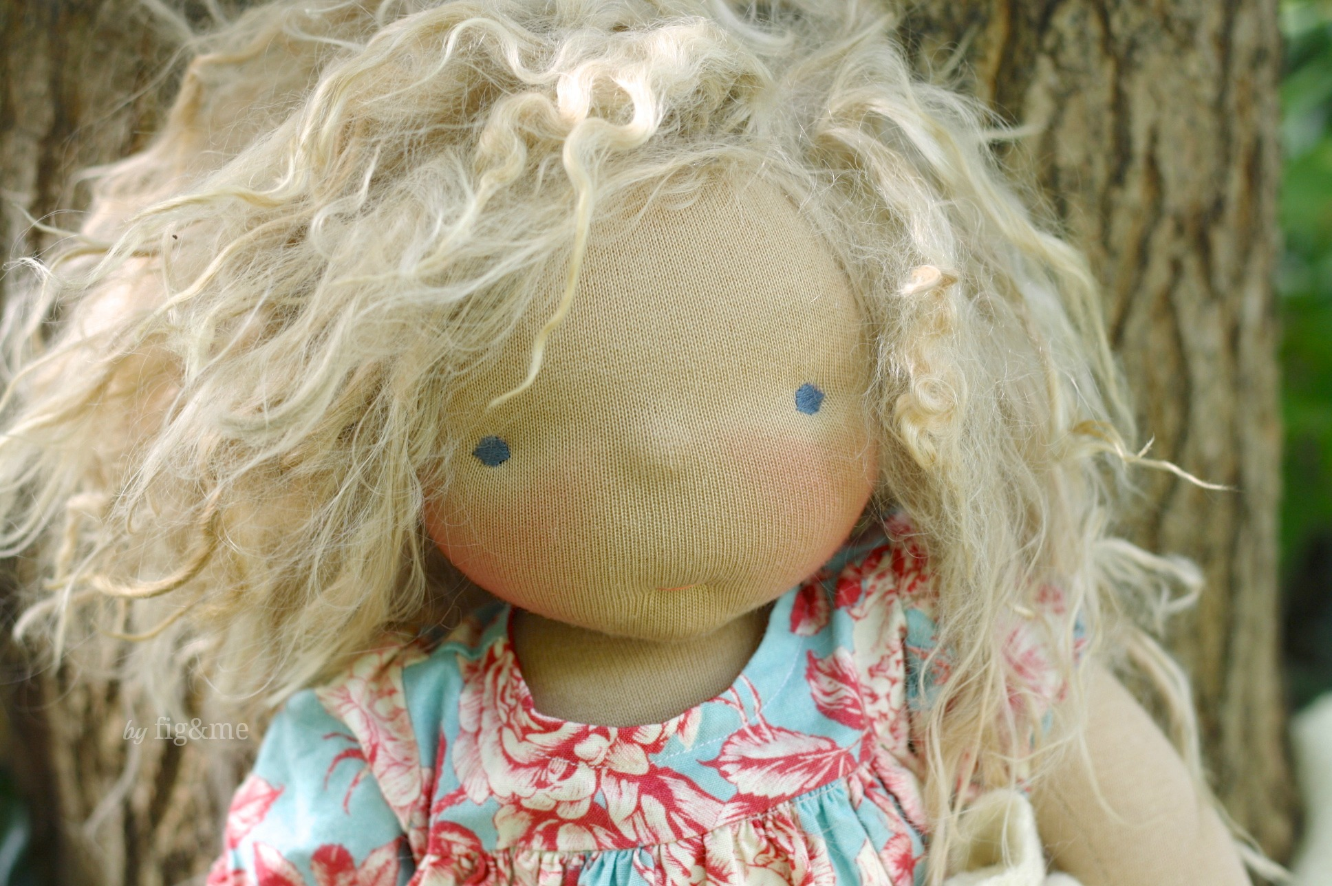 Amelie, with her alpaca locks by Fig and me.