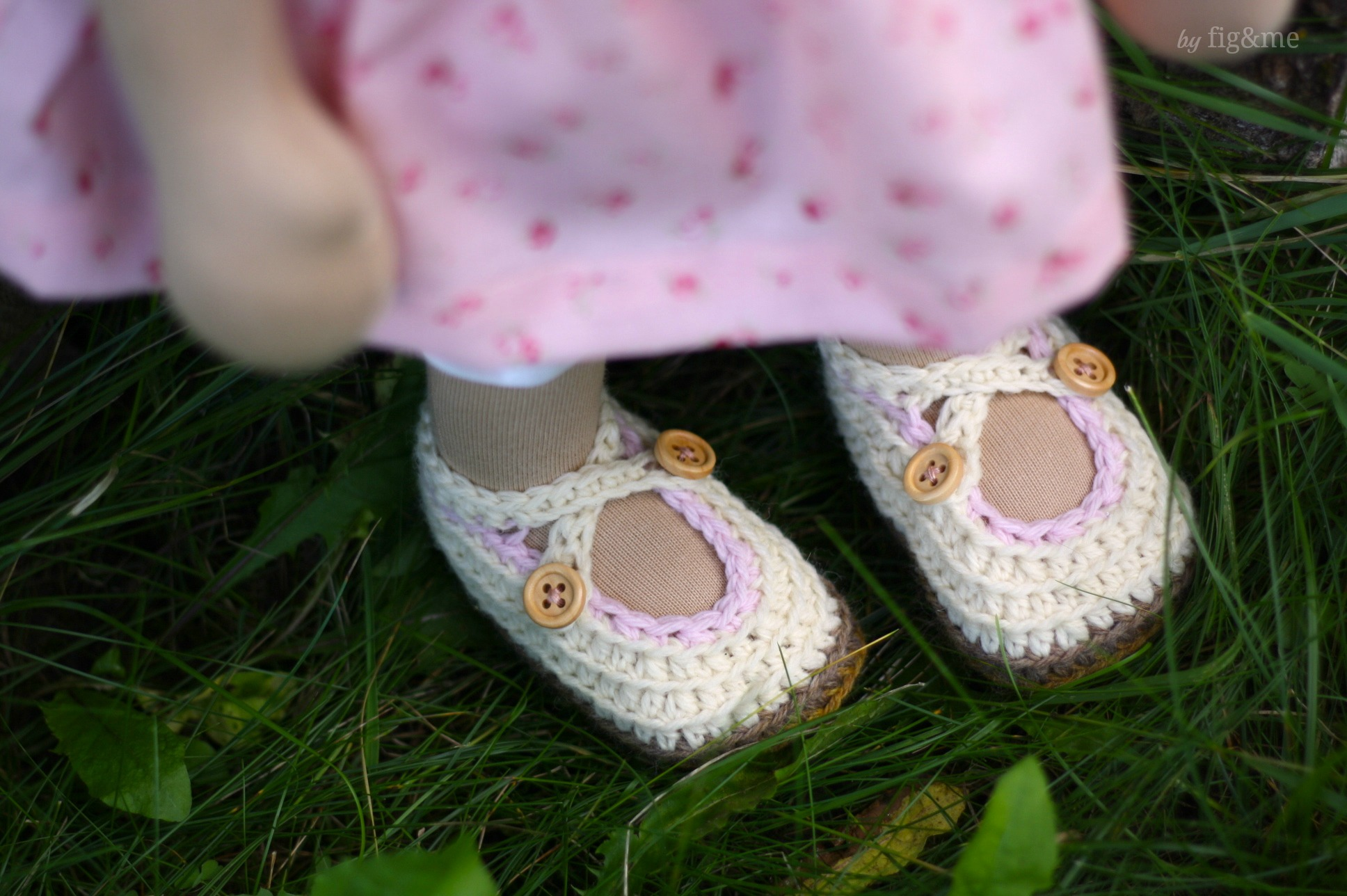 Doll shoes by Fig and me.