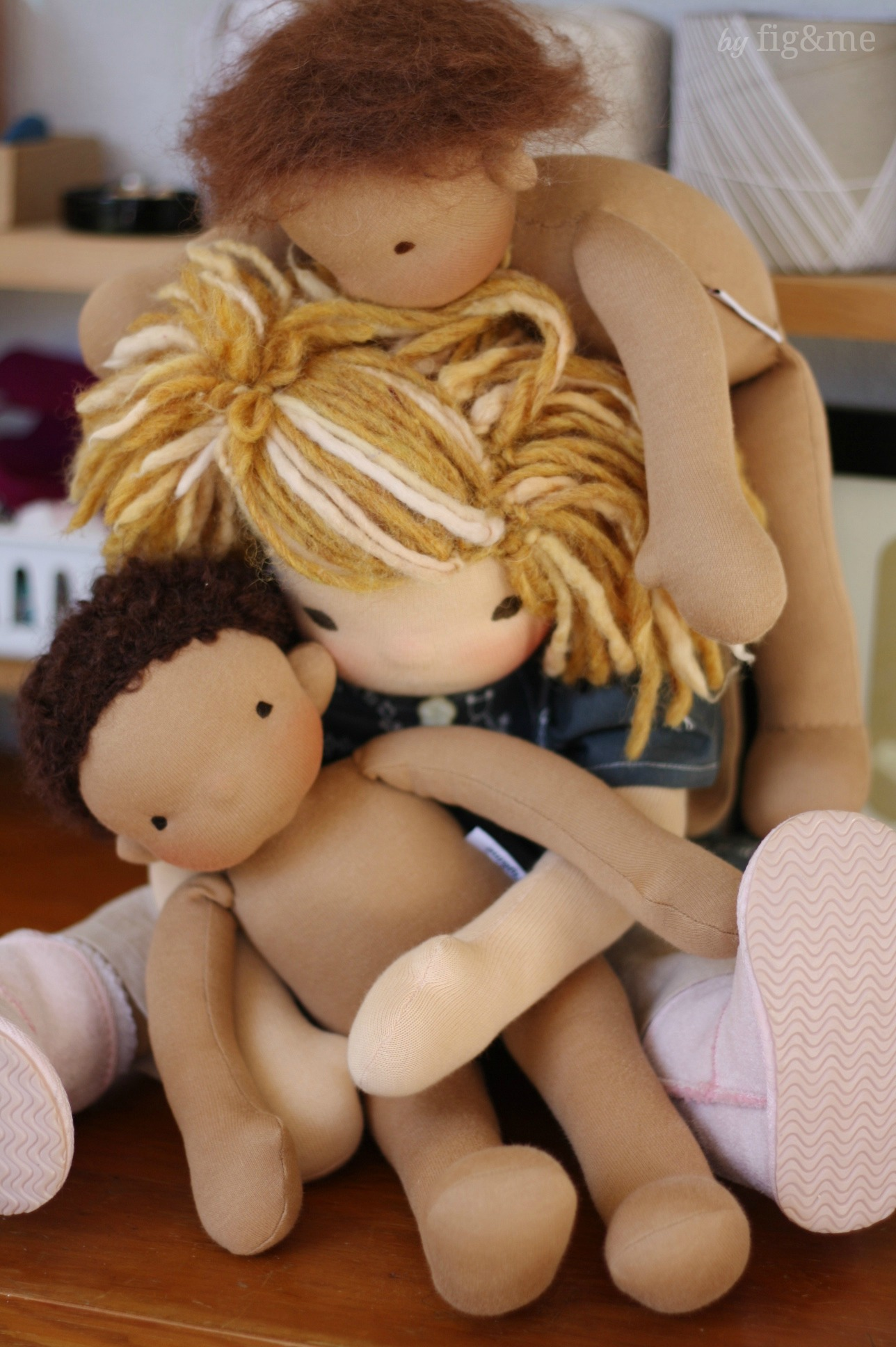 A stack of dolls, by Fig and me.