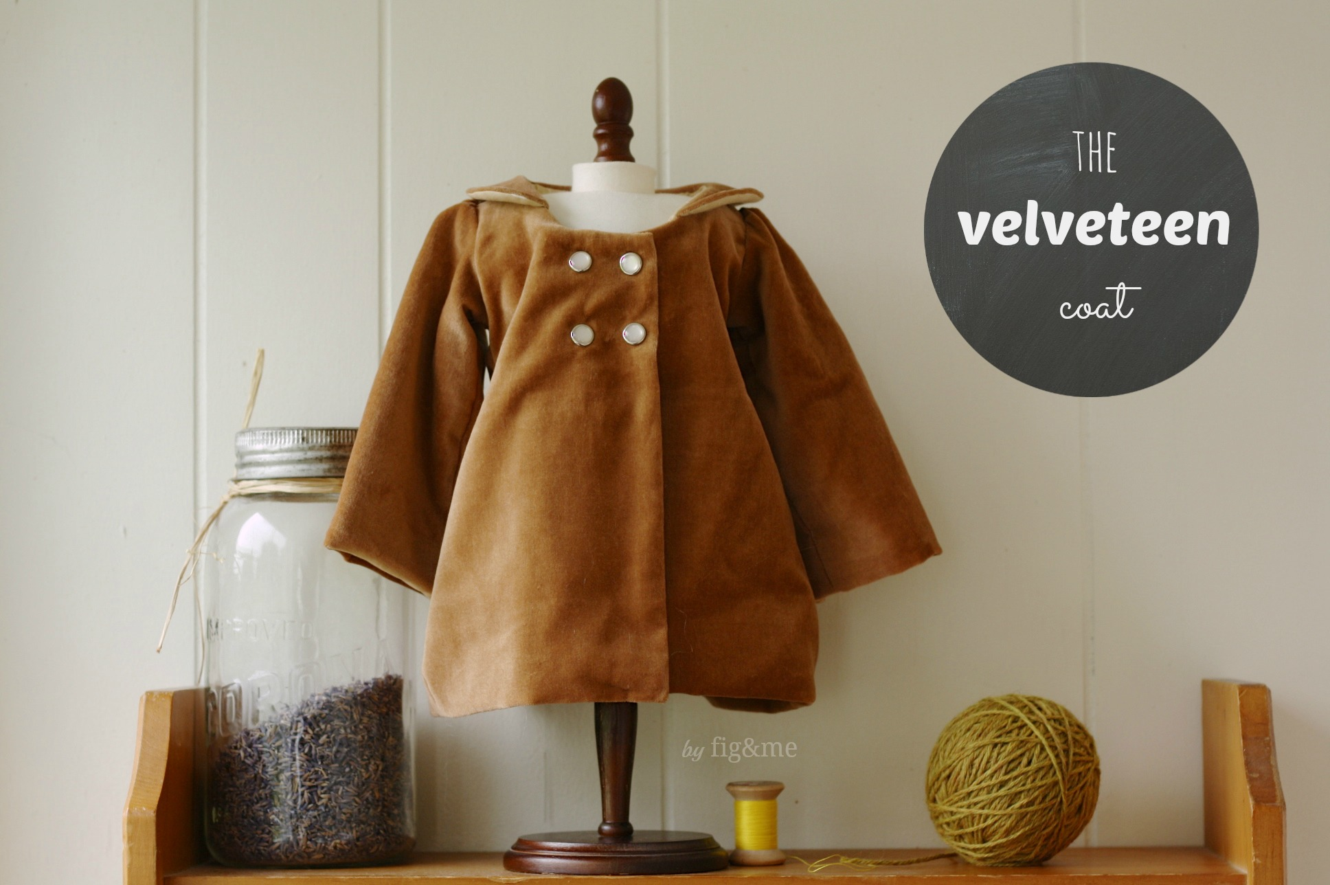 the velveteen coat, by fig and me.