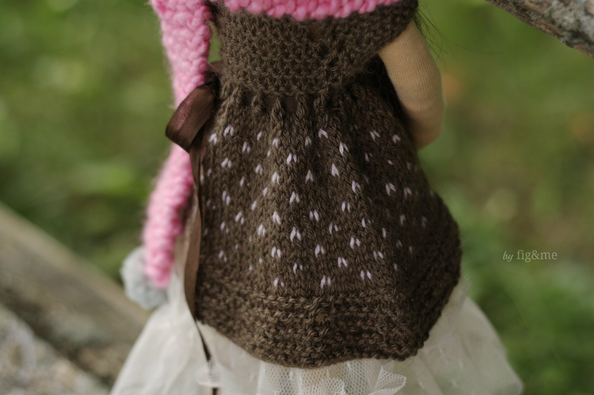 Fair isle dress, by Fig and me.