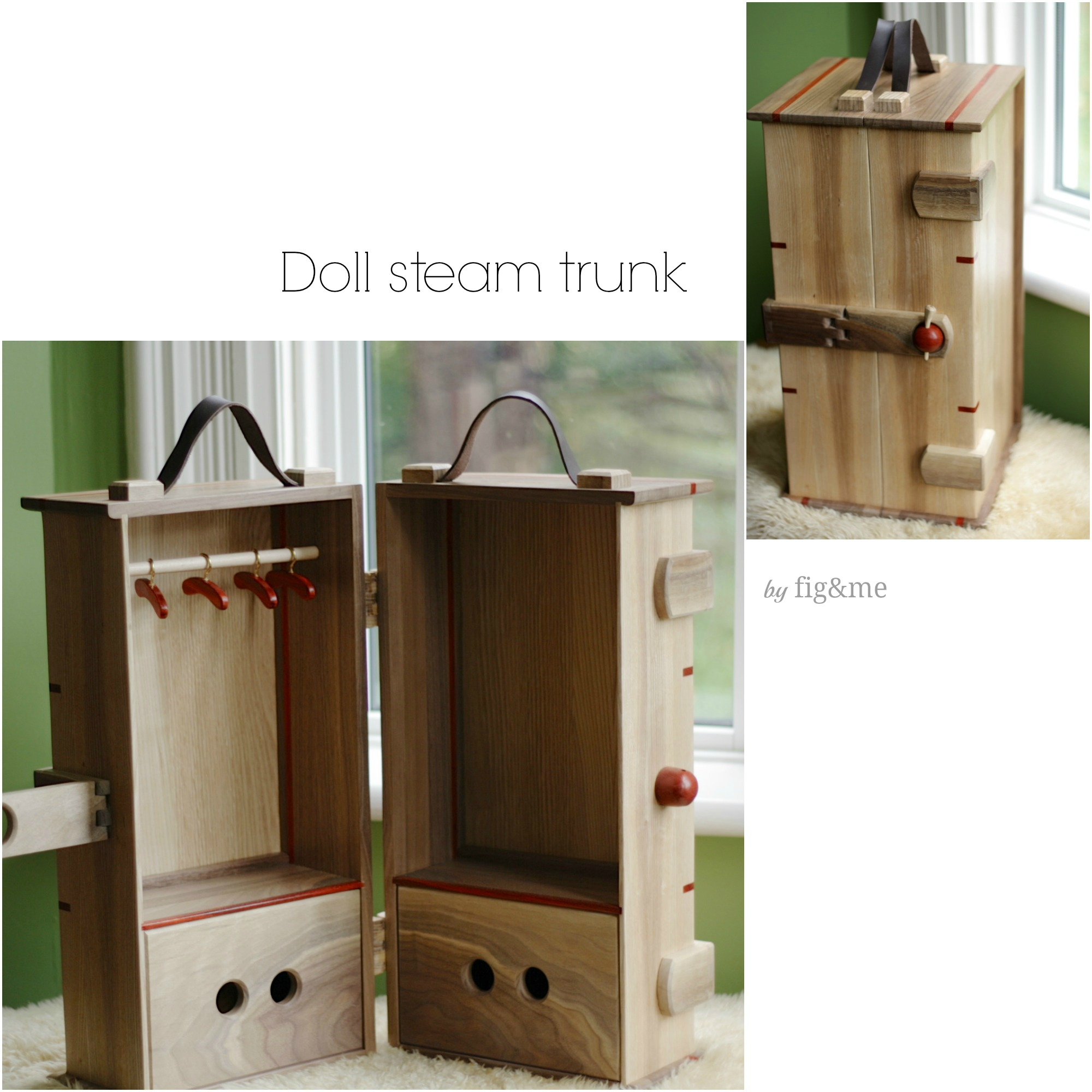 doll steam trunk, by Fig&me
