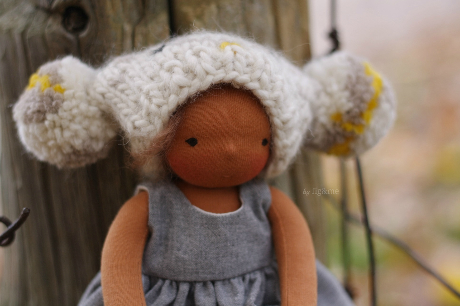 Little Reja and her wooly hat.