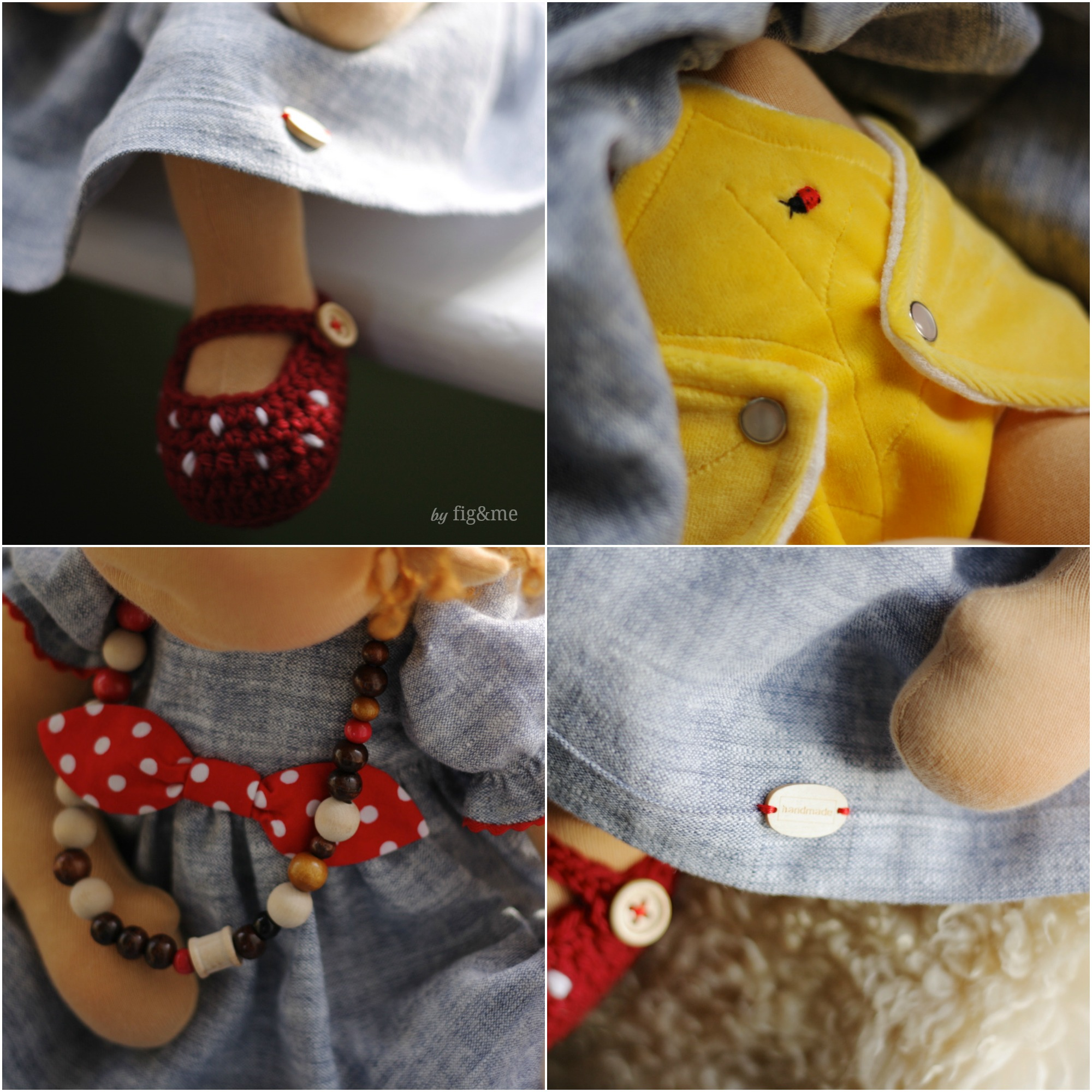 Little details of baby clothing.