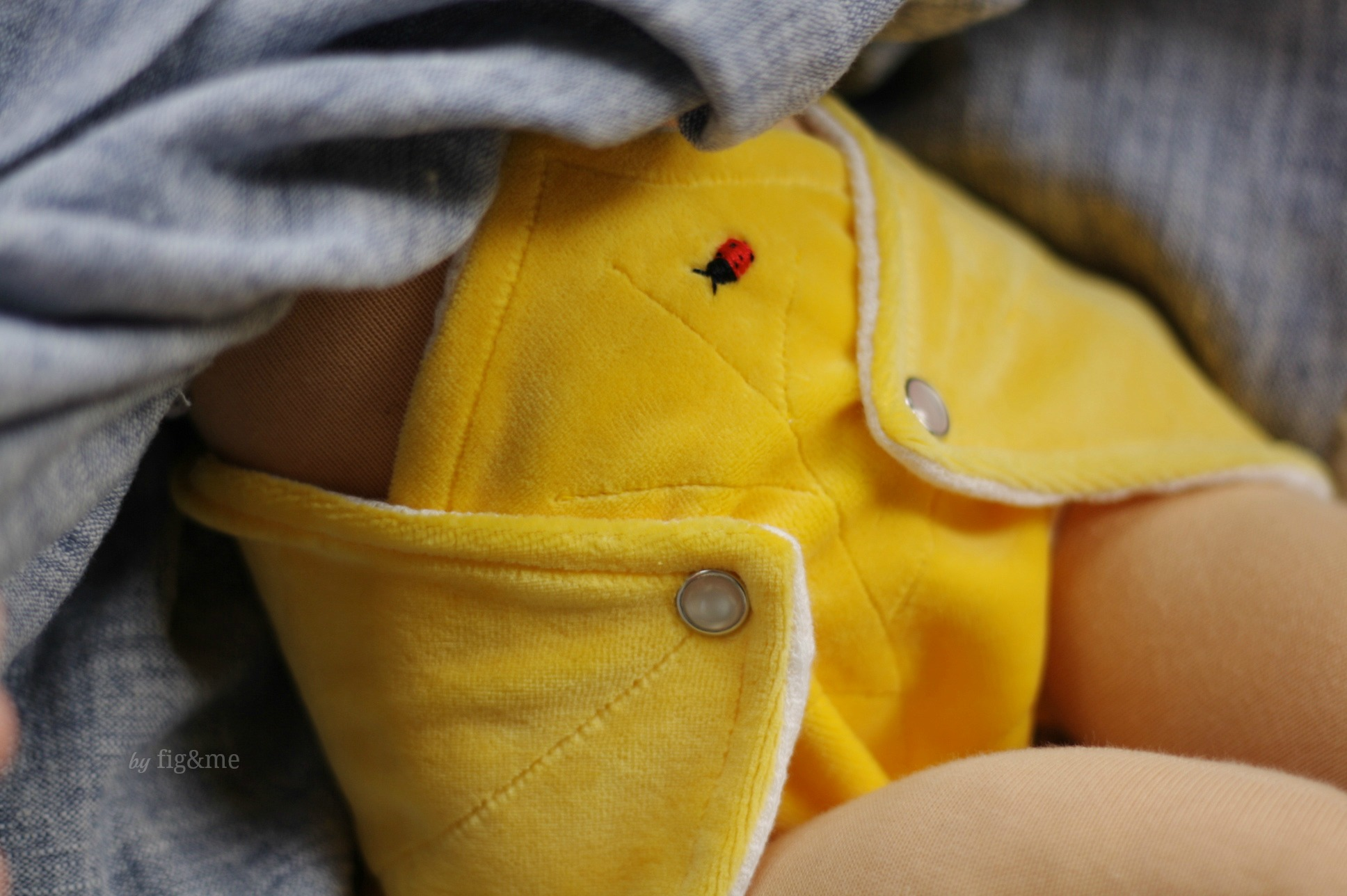A ladybug on your diaper!