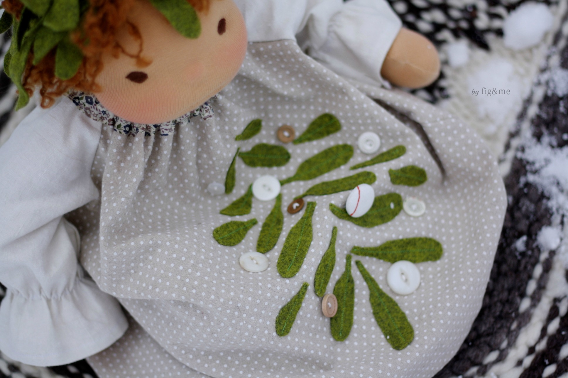 Mistletoe dress by Fig and me.