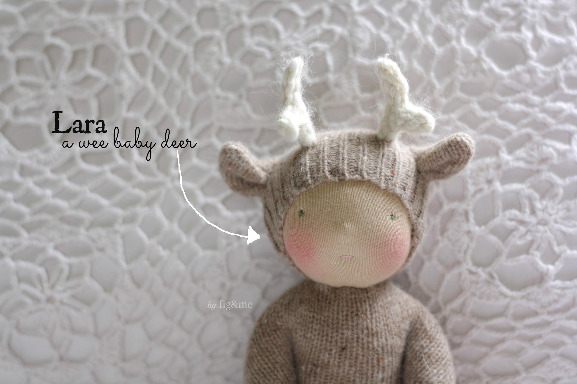 Lara, a wee baby deer by Fig and me.