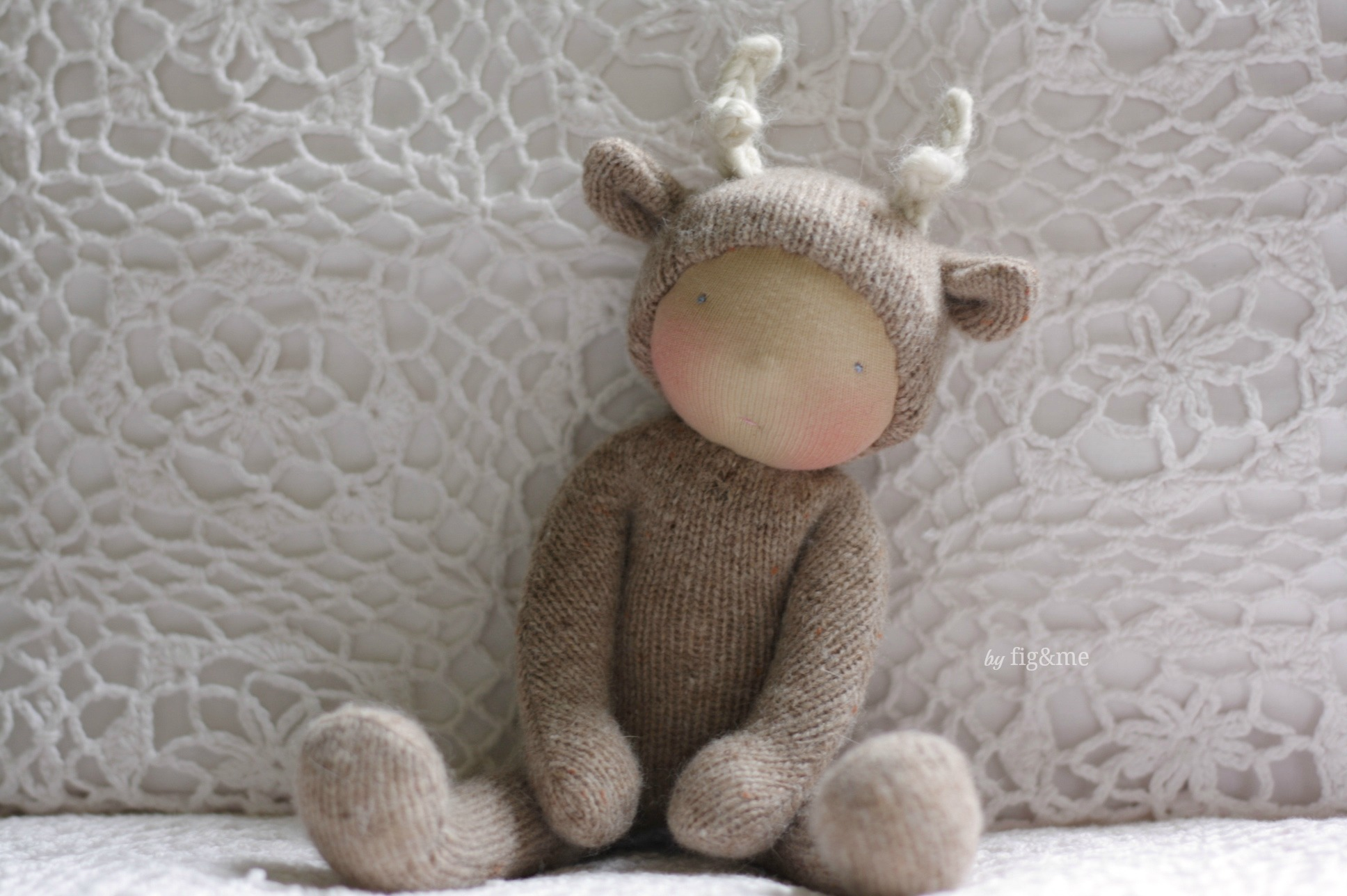 Shirley, a wee baby deer by Fig&me.