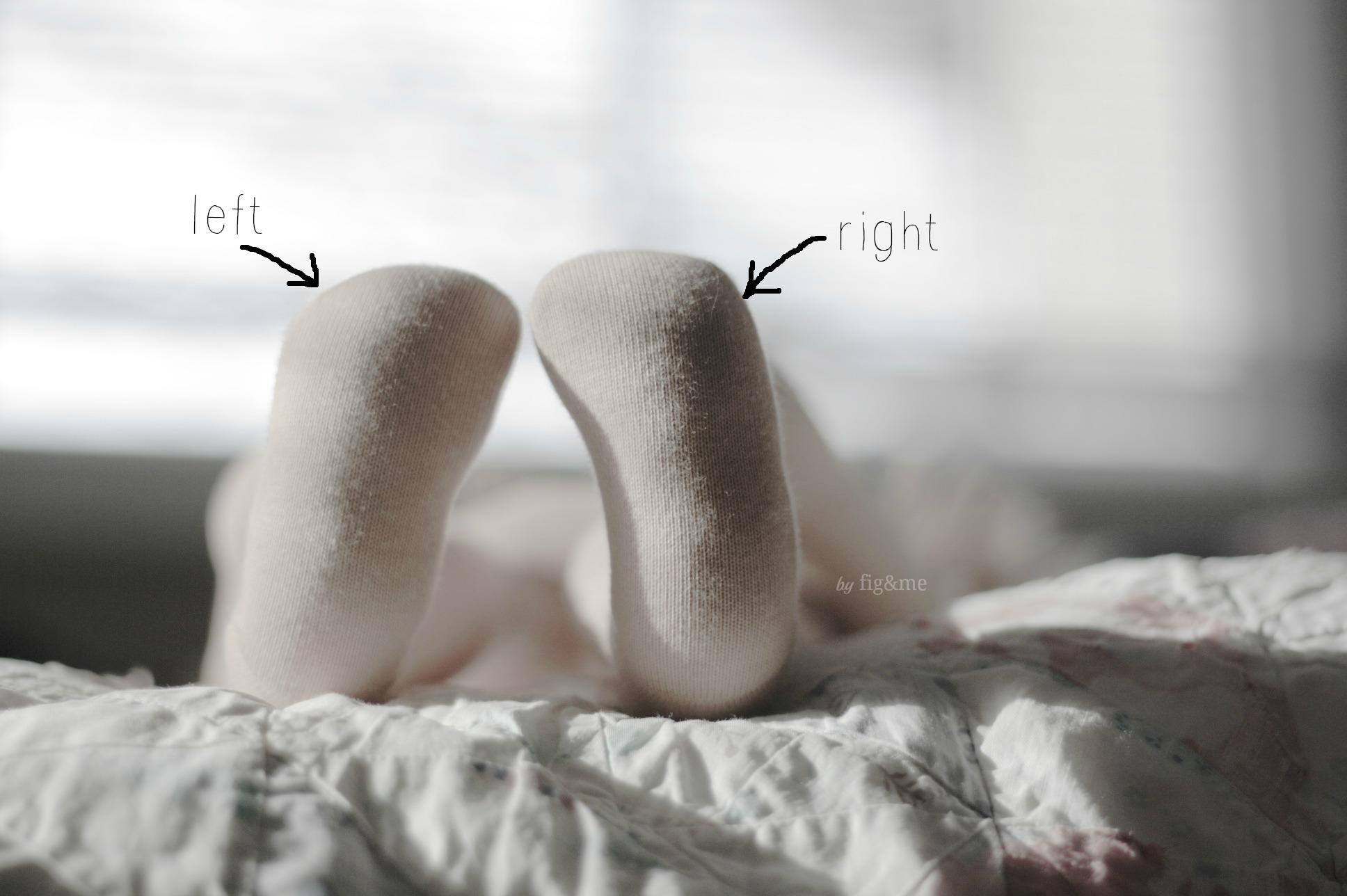 Left and right feet, by Fig&me