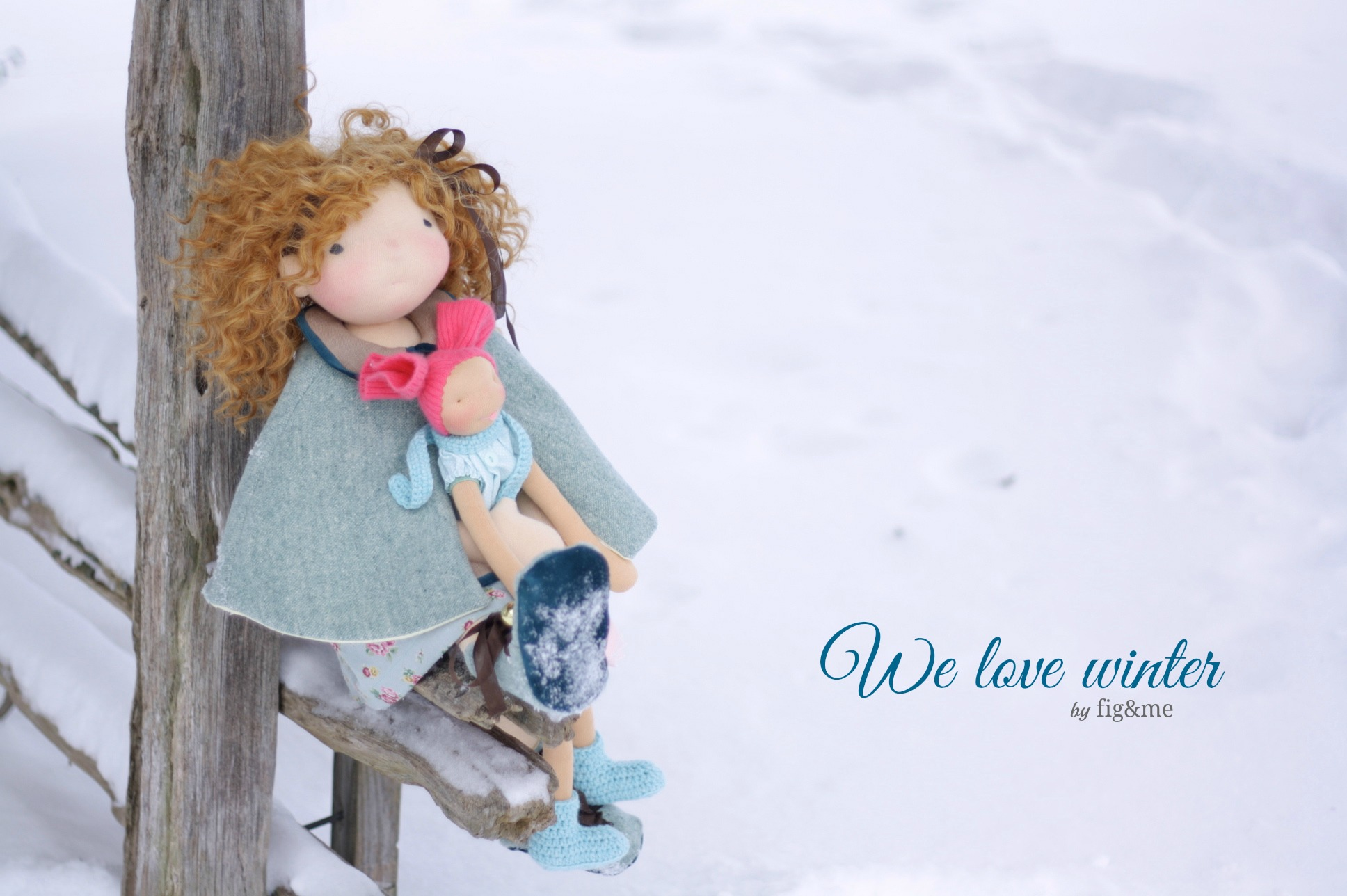 Hermione and Lollipop love Winter, by Fig&me.