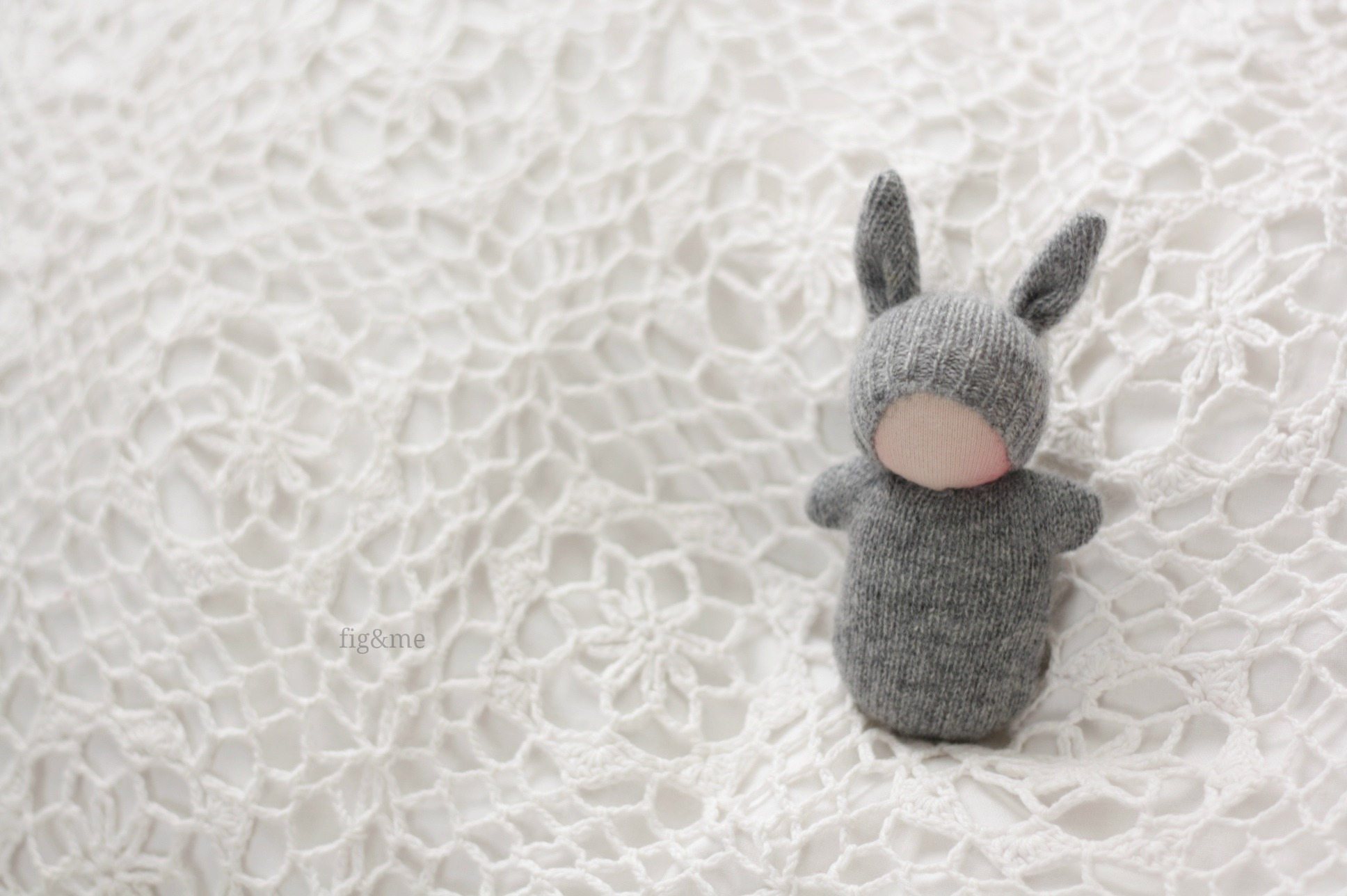 Little Grey Bunny, by Fig&me
