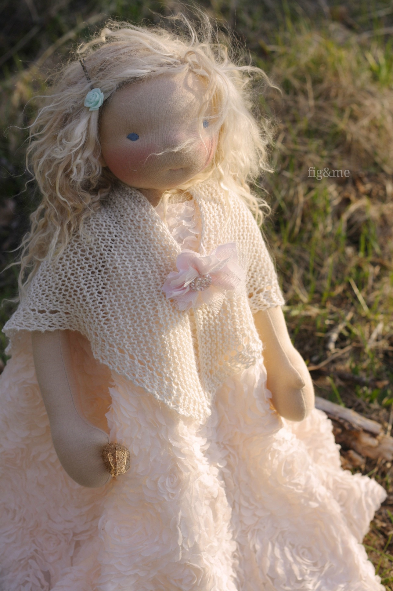 In her beautiful tulle dress, by Fig&me