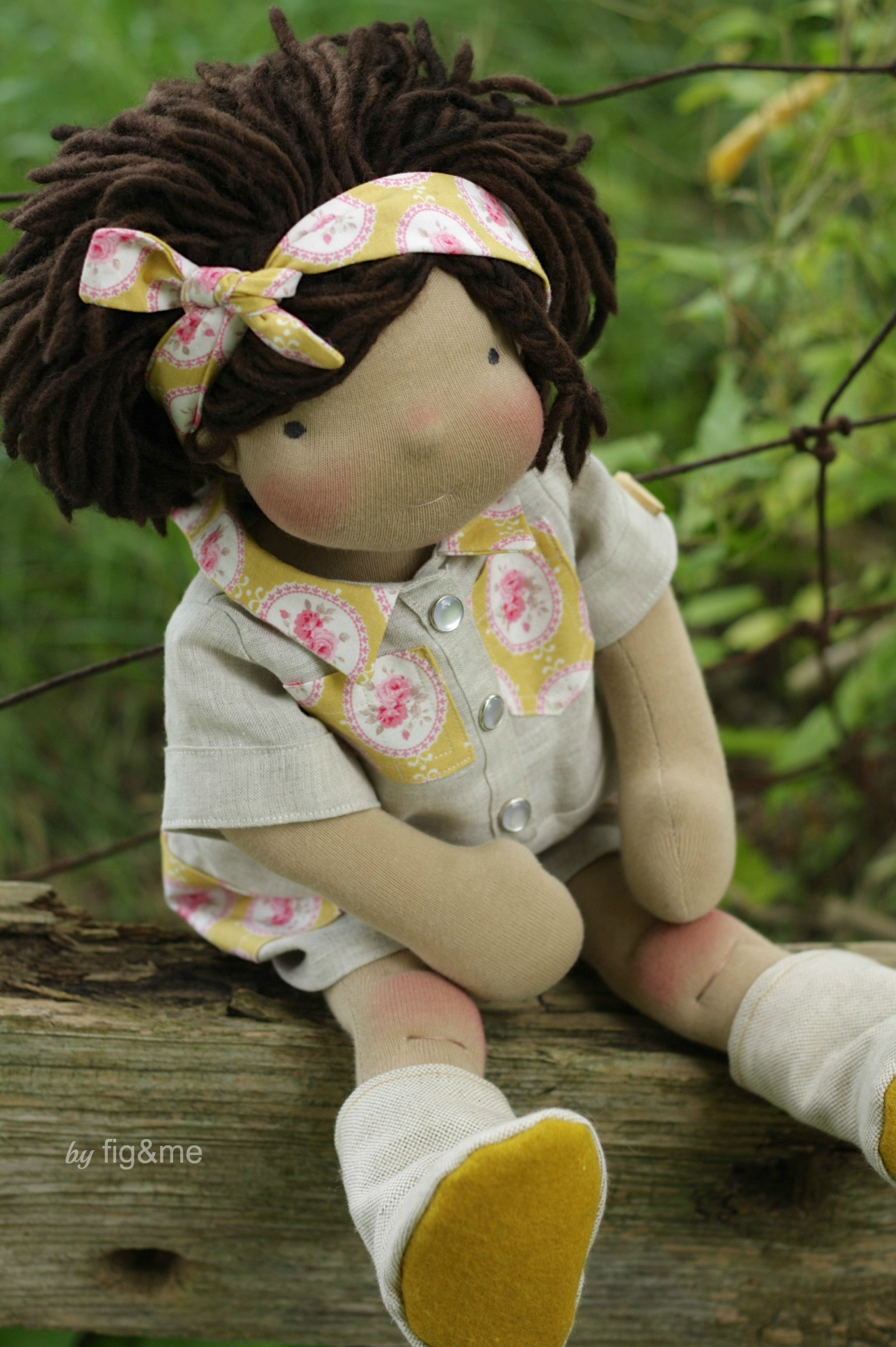New linen outfit, by Fig and Me.