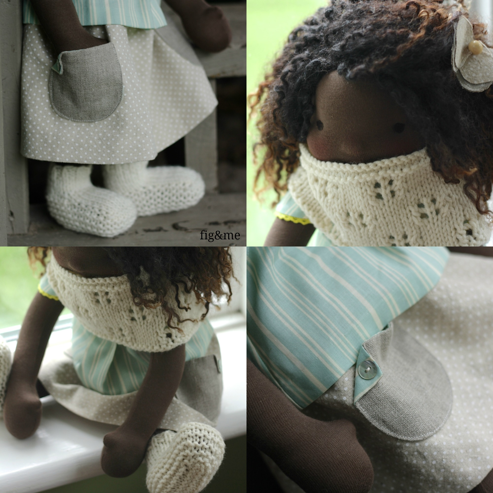 Details of Ivy's clothing, by Fig and Me.