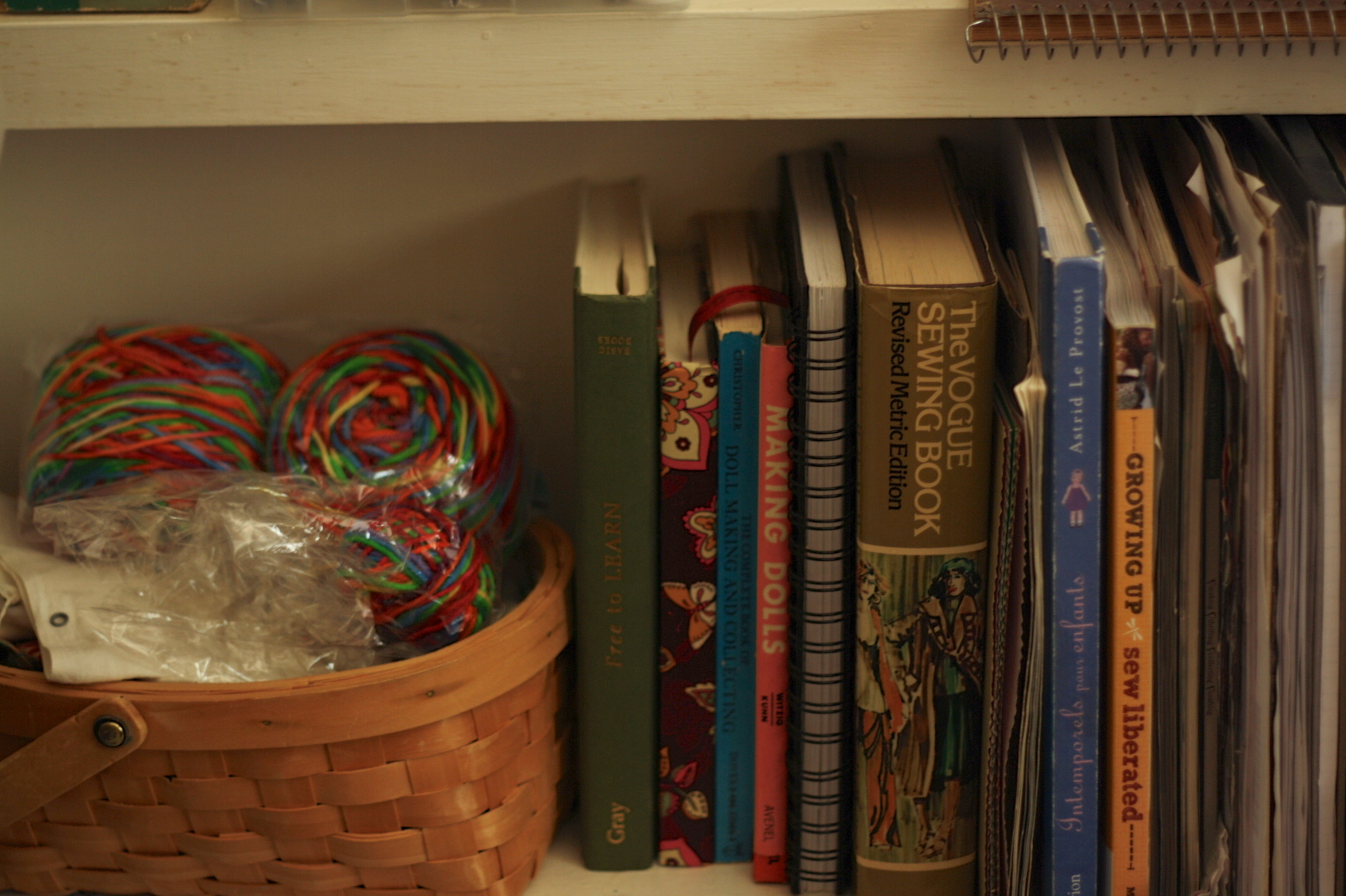 Wool and books, by Fig and Me.