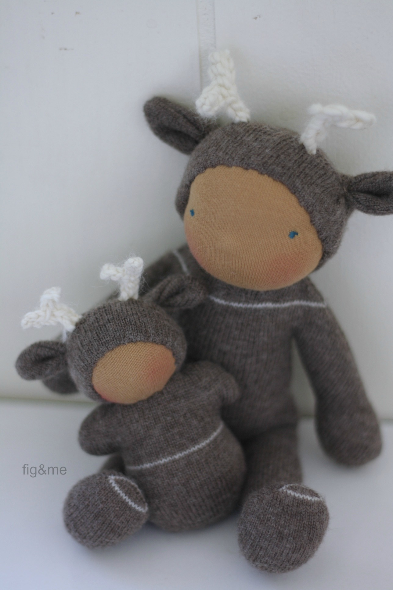 Wee Babies in Merino, by Fig and Me.