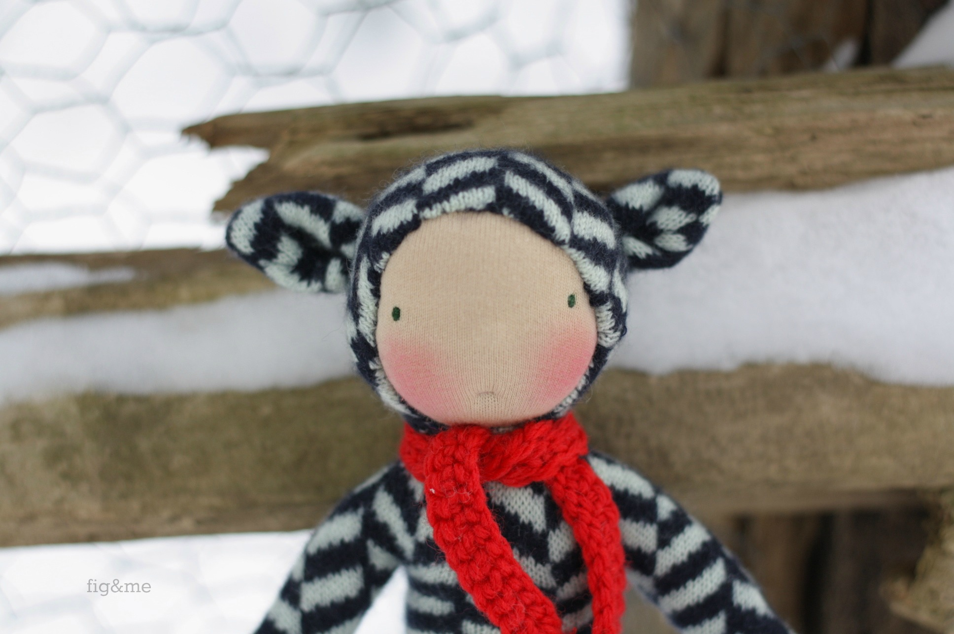 A little one in the snow, by Fig and Me.