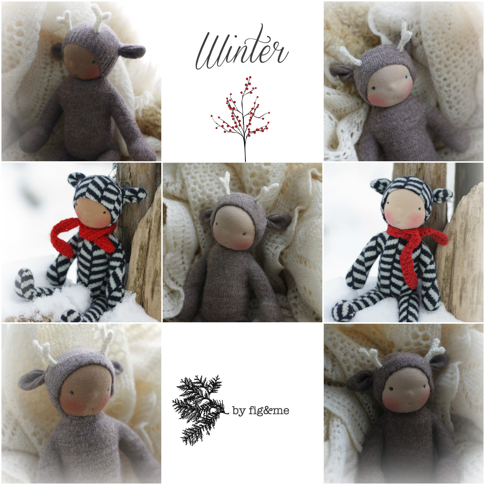 Wee Wintry Babies, by Fig and Me.