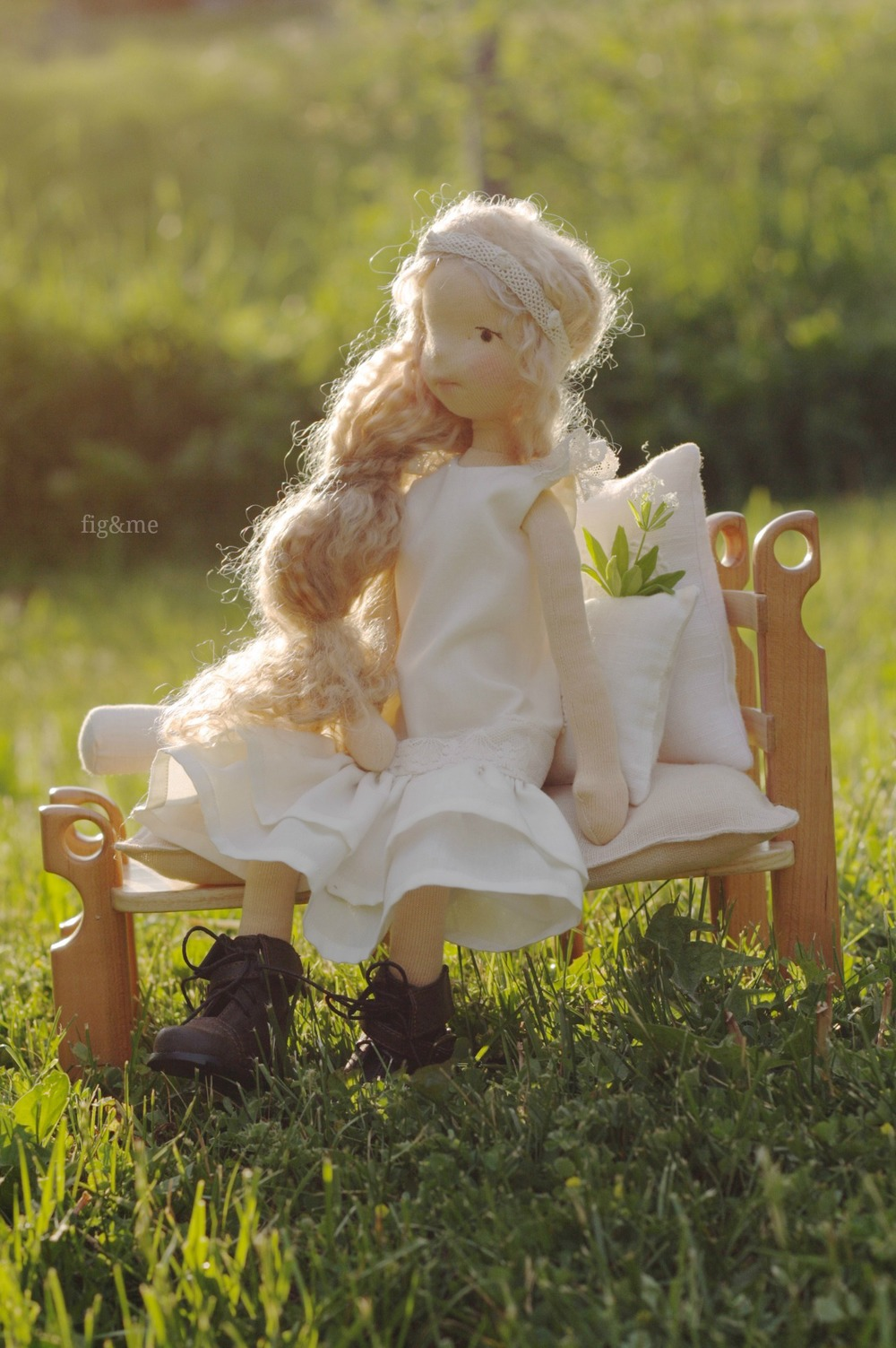 "Nouveau, a 16"" Mannikin style doll by Fig & Me."