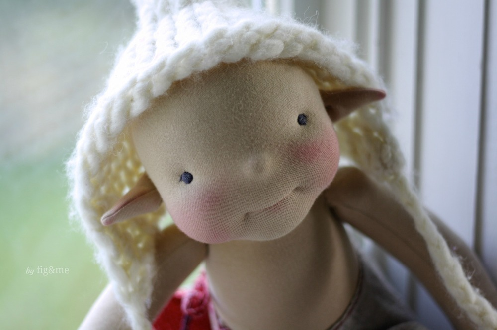"""Misty Willow, a fairy 20"""" figlette by Fig and Me."""