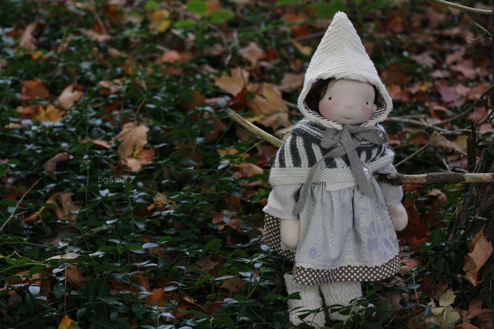 "Bláithín, a 17"" tall Figlette doll by Fig and Me."