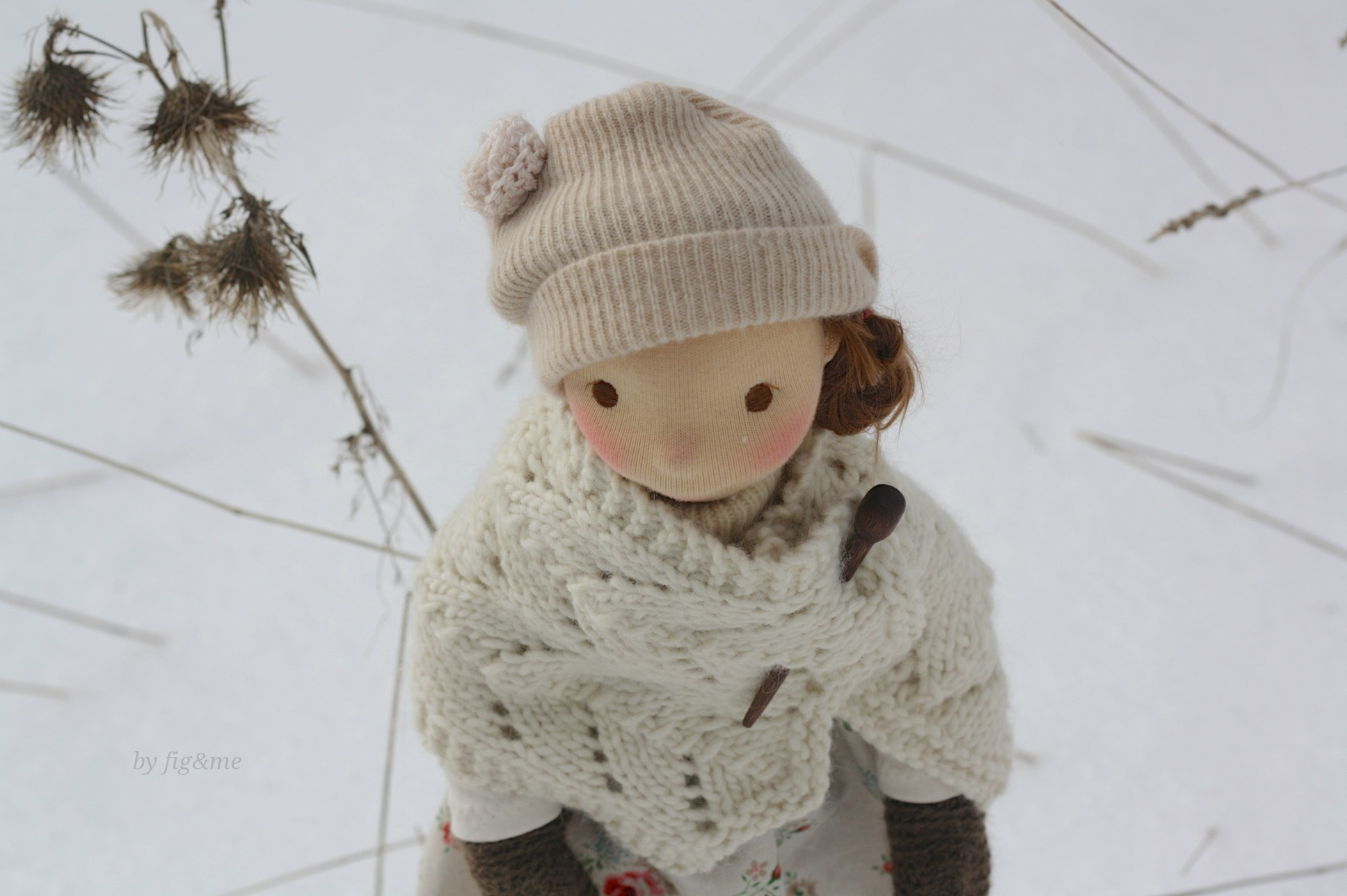 A little snowflake on your cheek Little Winny, by Fig and Me.