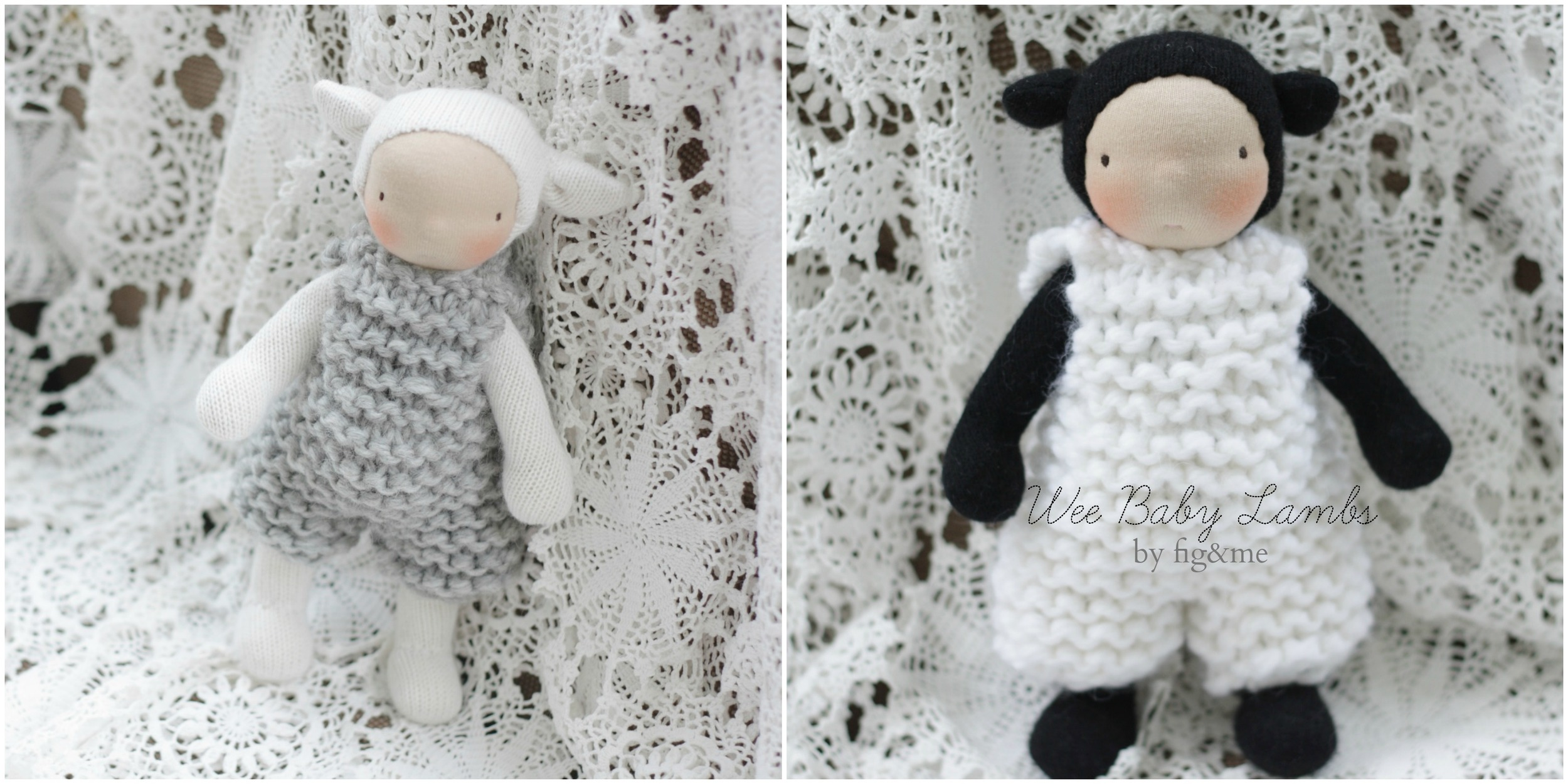 Wee Baby Lambs by Fig and Me.