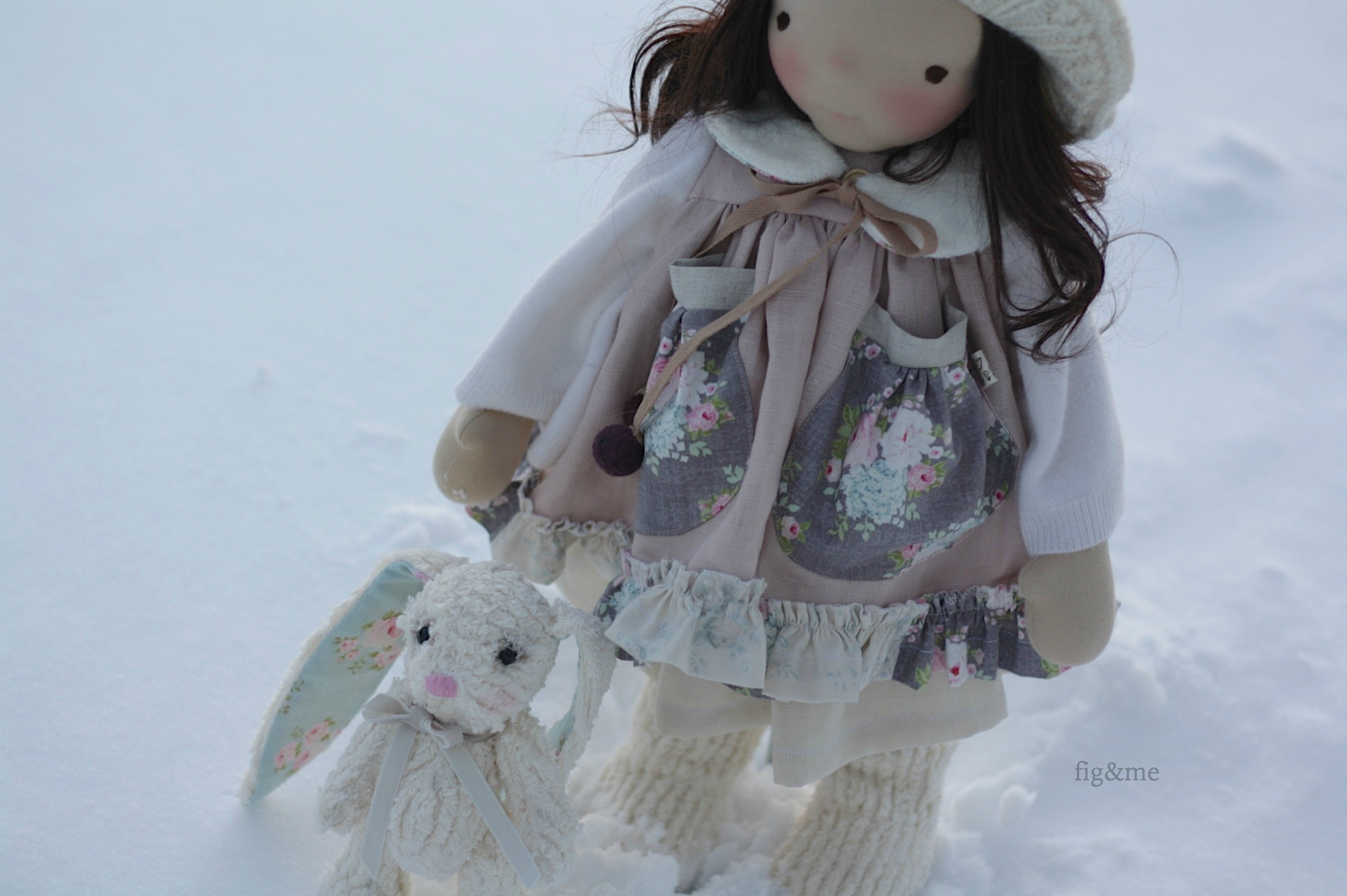 in the snow, by fig and me