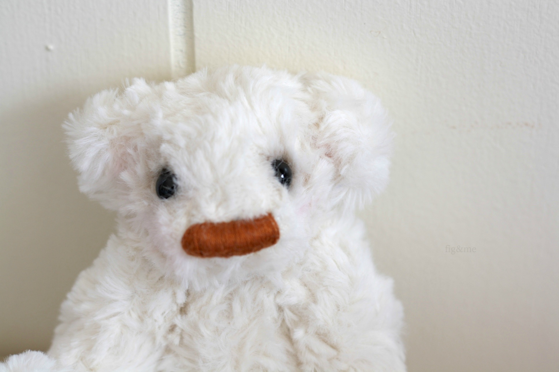 Little Tip, a broad nosed teddy by Fig and Me.