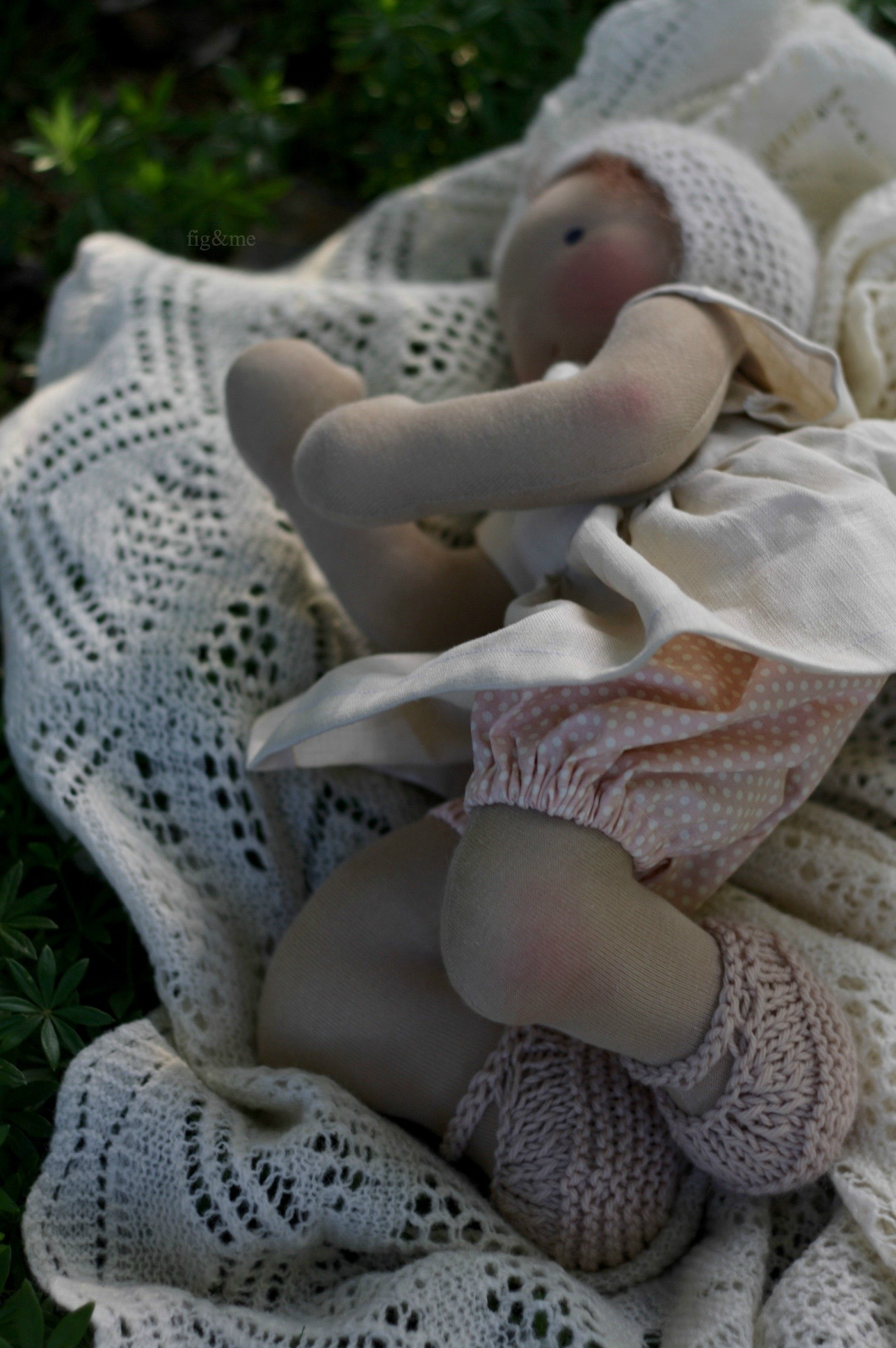 Elderflower, a natural baby doll by Figandme.