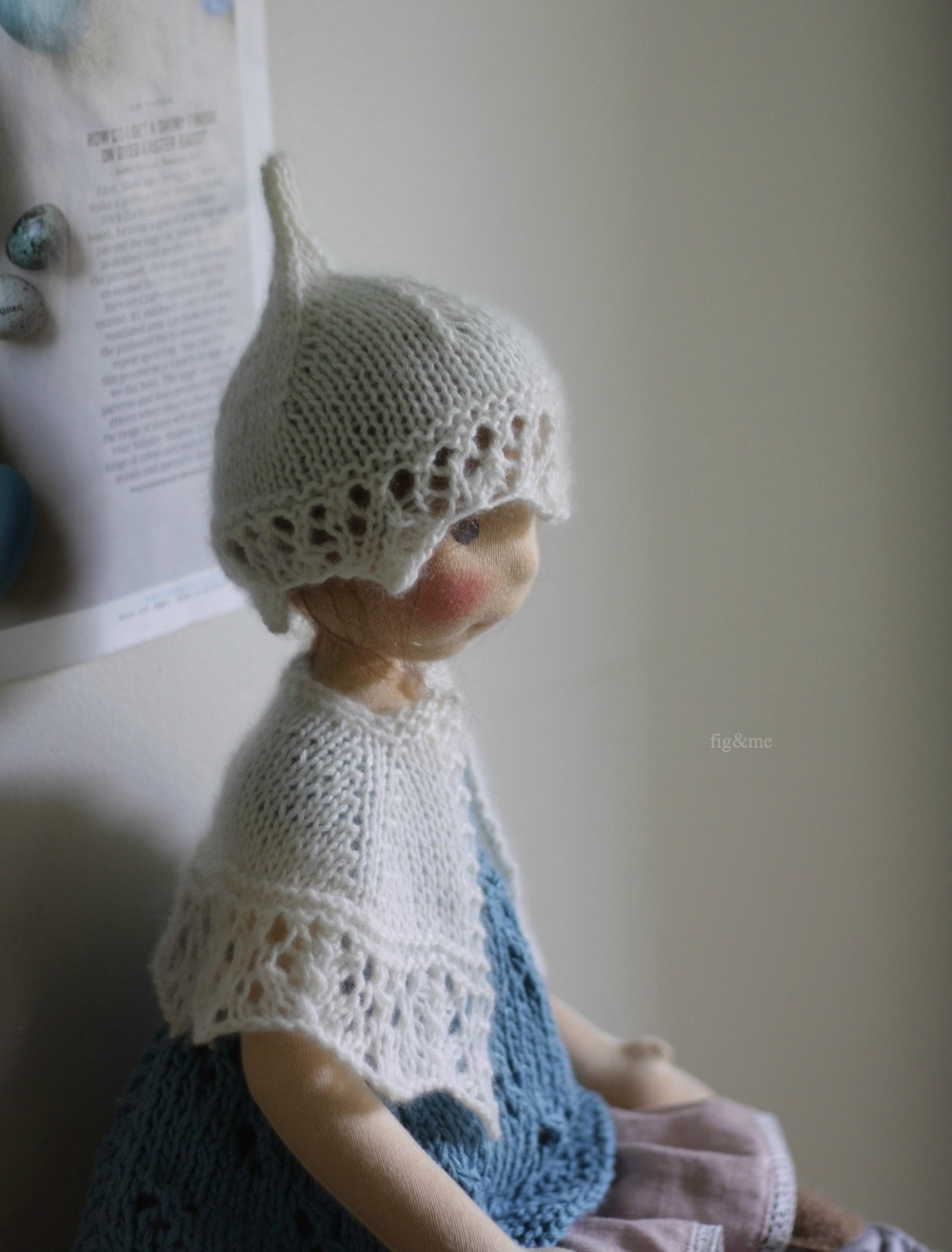 "Poet is a Petite Fig (22"" tall), a one of a kind wool sculpted doll of very minute proportions, a new style of handmade doll for 2015 (via Fig and me)"