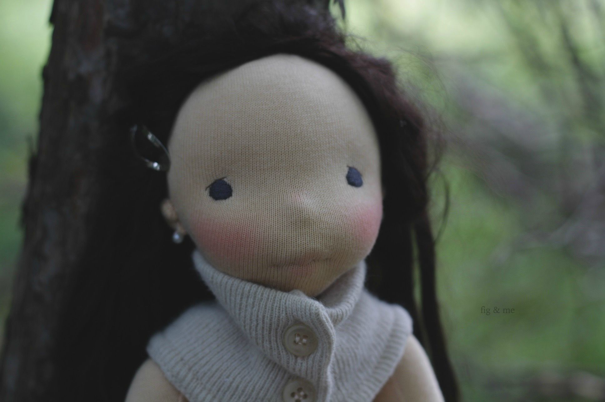 Natural handmade cloth doll by fig and me.