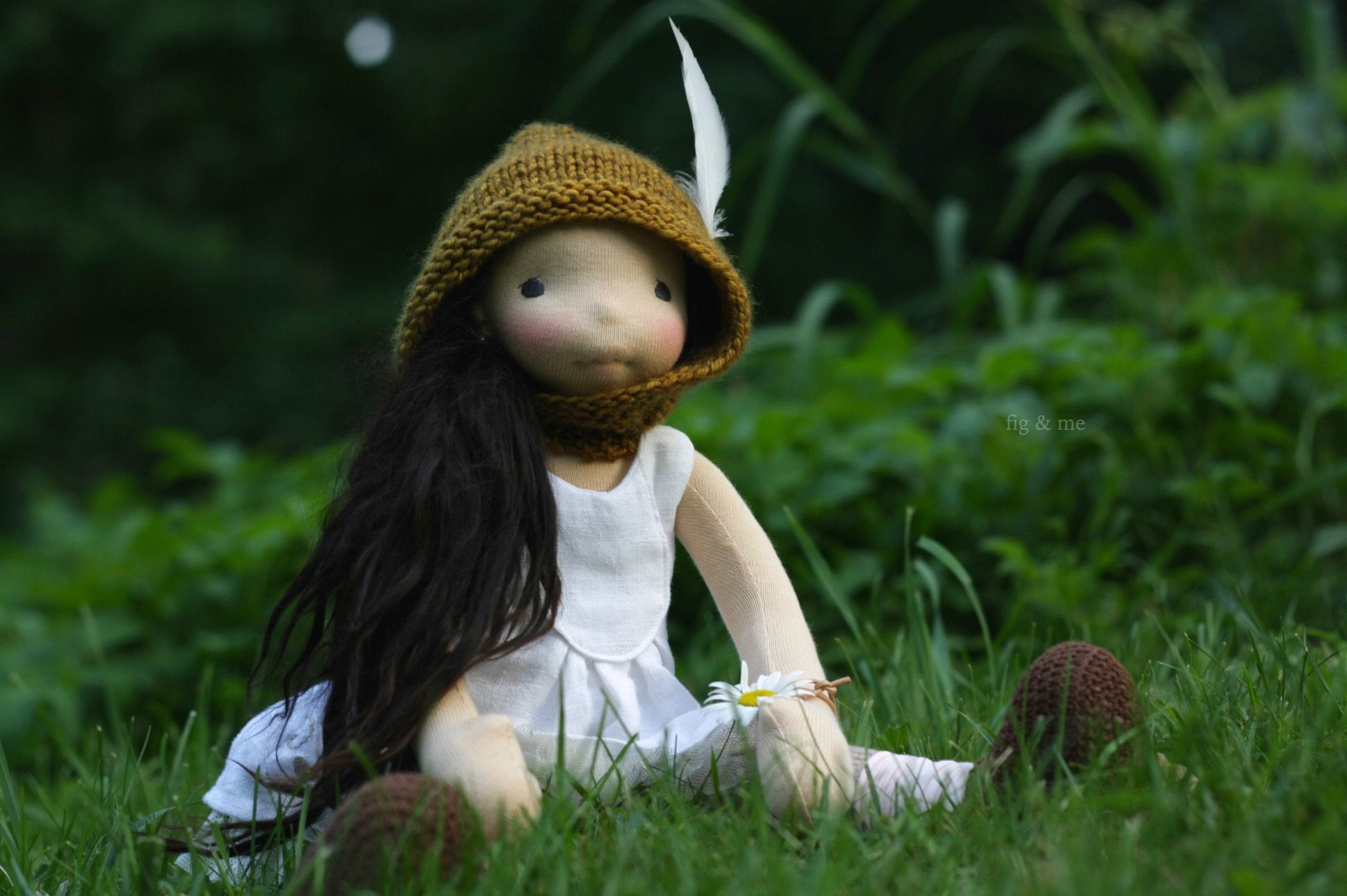 Seraphita playing Robin Hood, by Fig and me
