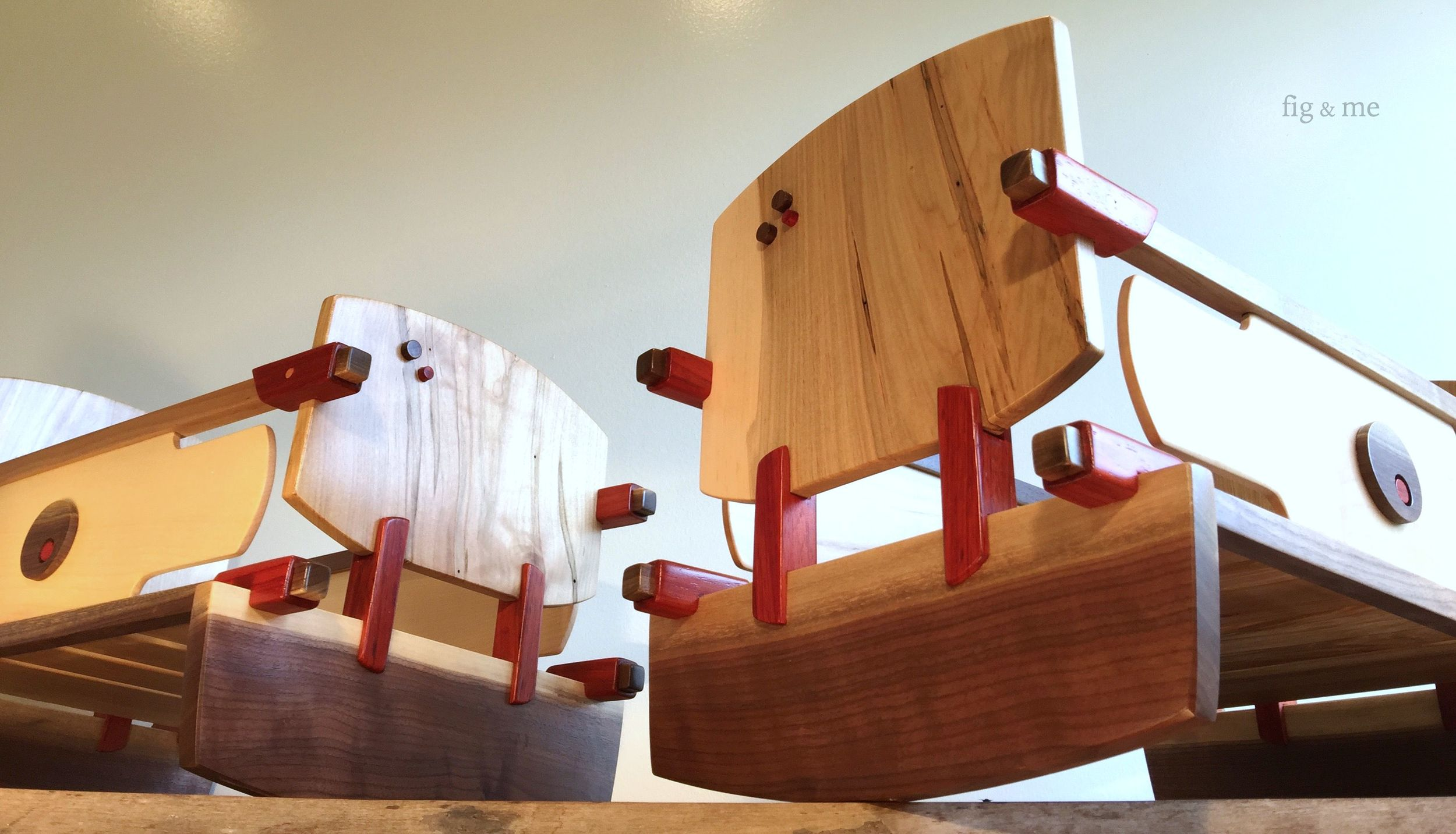 Wooden doll cradles by Fig and me