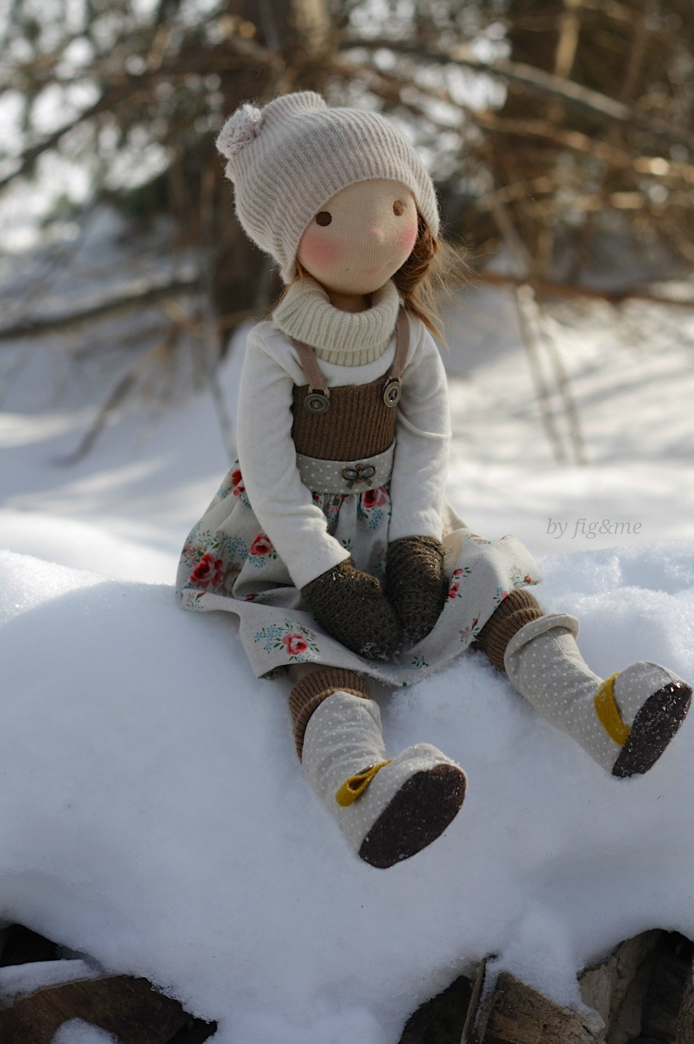 Winny, a Petite Fig cloth doll by Fig and me