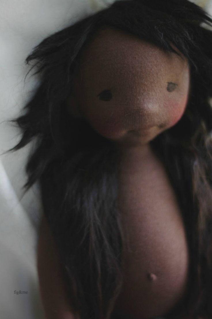 "Fernanda, a Little Fig (15"") cloth doll by Fig and me."
