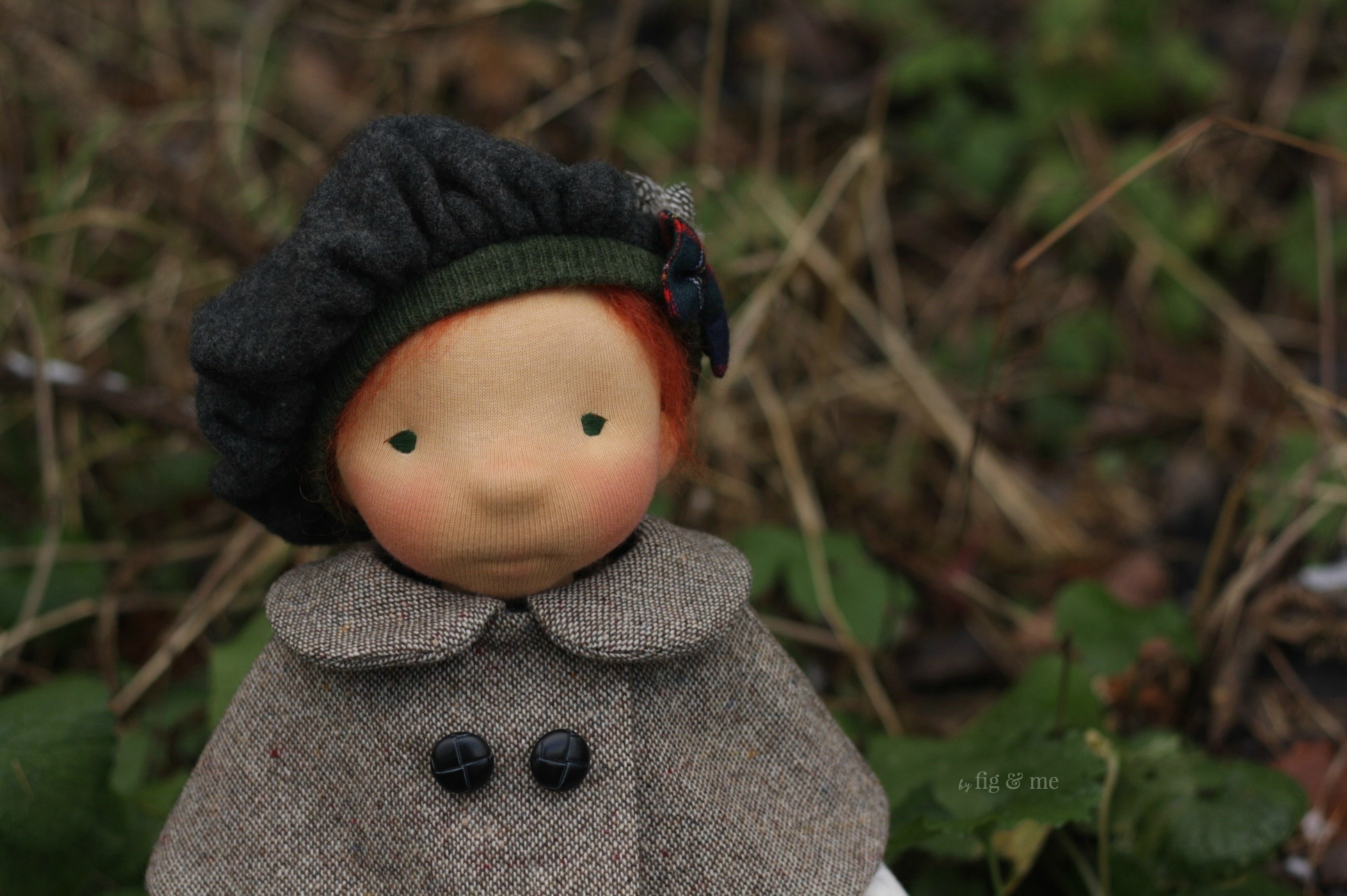 Little Kilda, a natural fiber art doll made with love by Fig and me (inspired by Scotland).