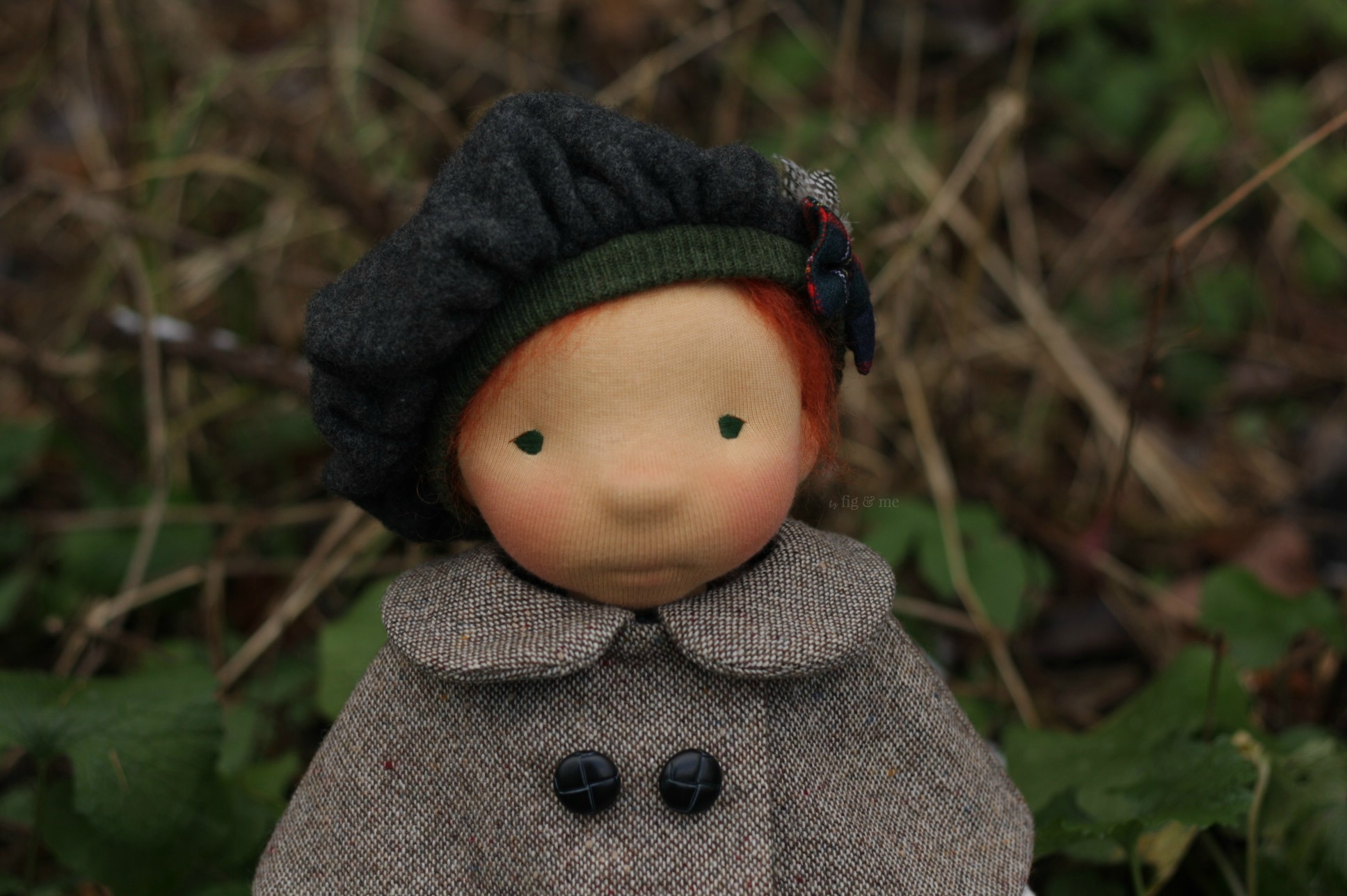 Kilda, a natural fiber art doll by Fig and Me.