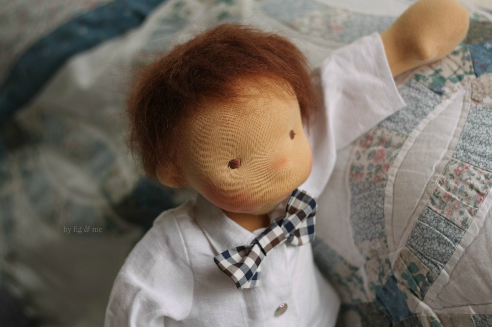 Xavier, a natural doll by Fig and me.