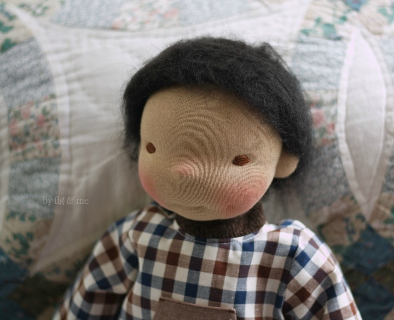 Ryan, a natural cloth doll by Fig and Me.