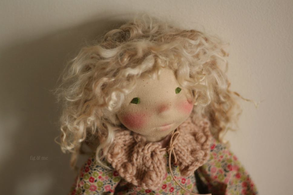 Sisley, a natural fiber art doll by Fig and Me.