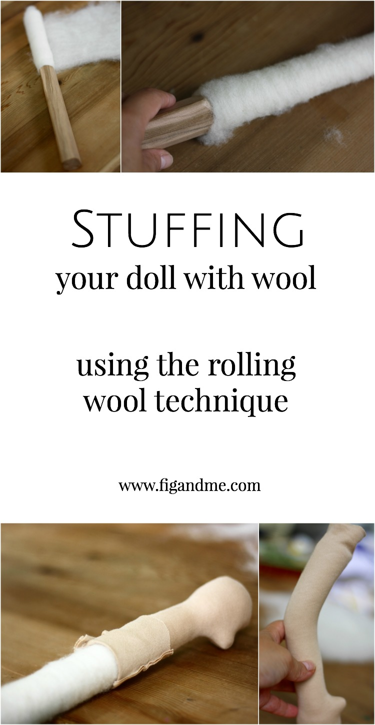 "Learn a cool technique for how to stuff your waldorf or natural fiber art doll, video included!. The technique is called ""rolling wool"" and it provides extremely firm limbs, with unbeatable smoothness. It's a bit tricky at first, but it definitely gives you great results (via Fig and Me)."