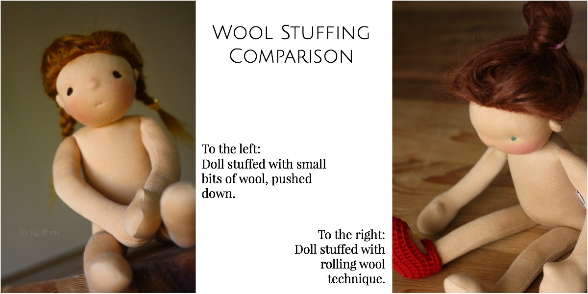 Tutorial on how to stuff waldorf style dolls with wool, using the rolling wool technique. Via Fig and Me.