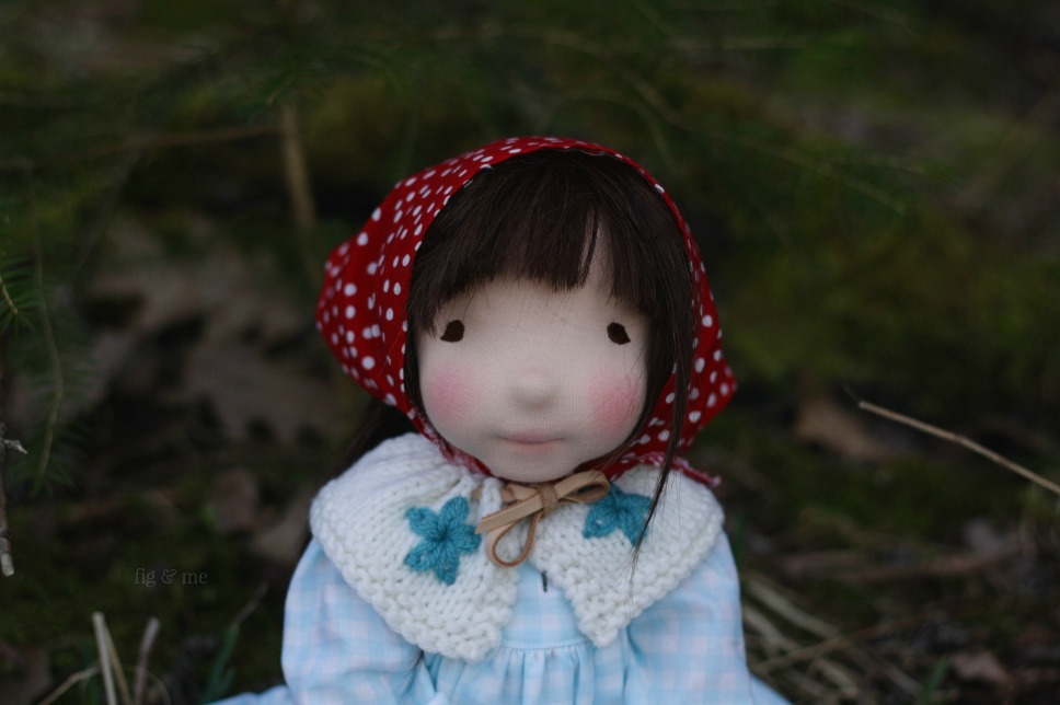 Miss Imogen, the outlaw. A waldorf inspired natural doll, ready to play. By Fig and Me.