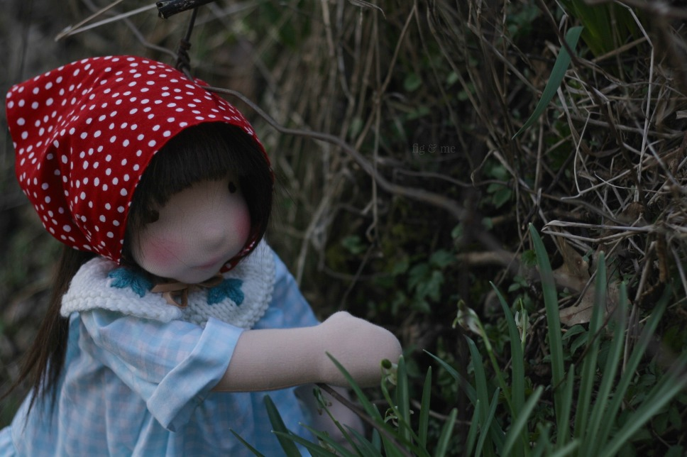 Imogen, a natural fiber art doll (waldorf inspired) ready to play. By Fig and Me.